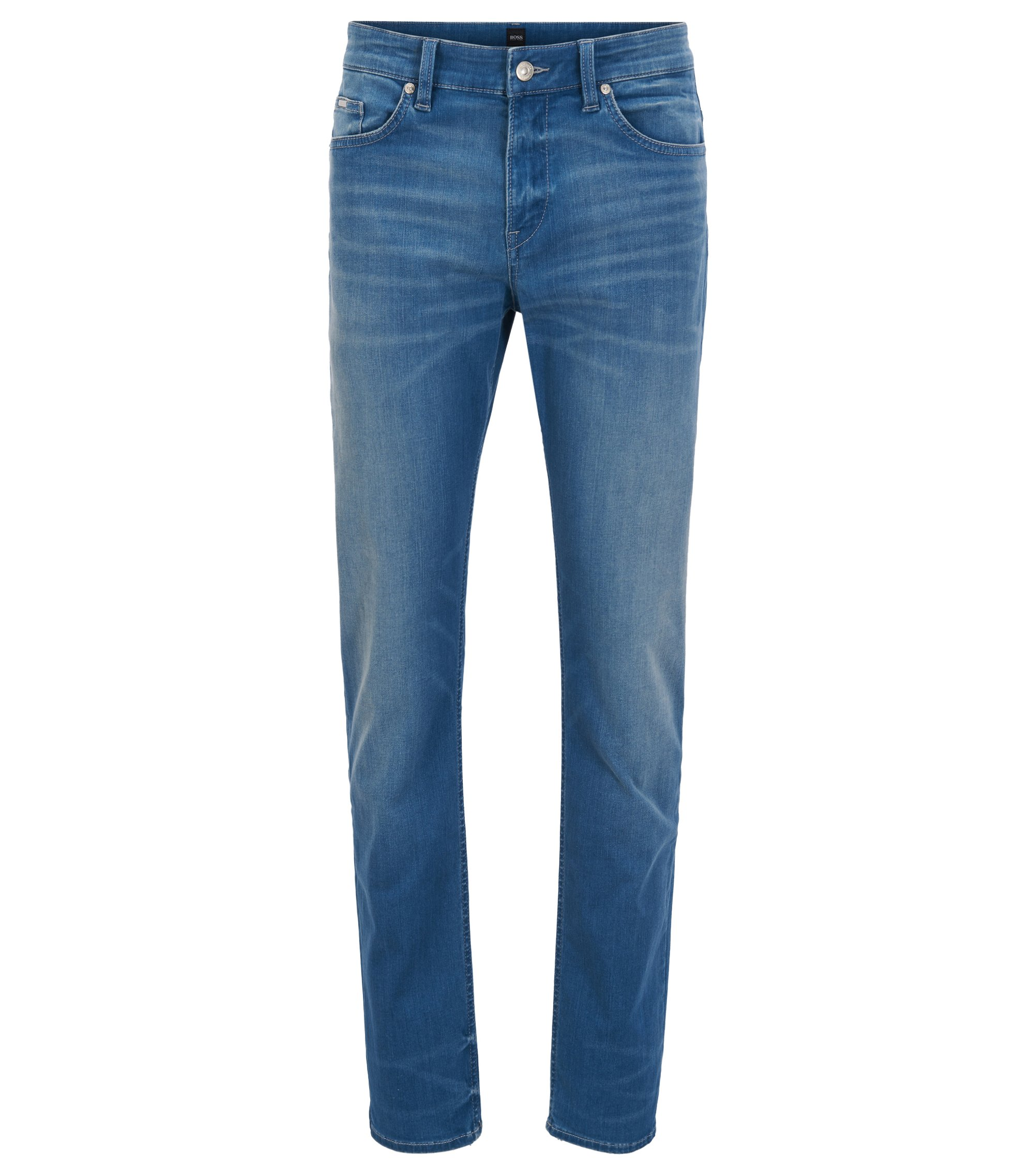 Jean Slim Fit en denim indigo stretch, Bleu