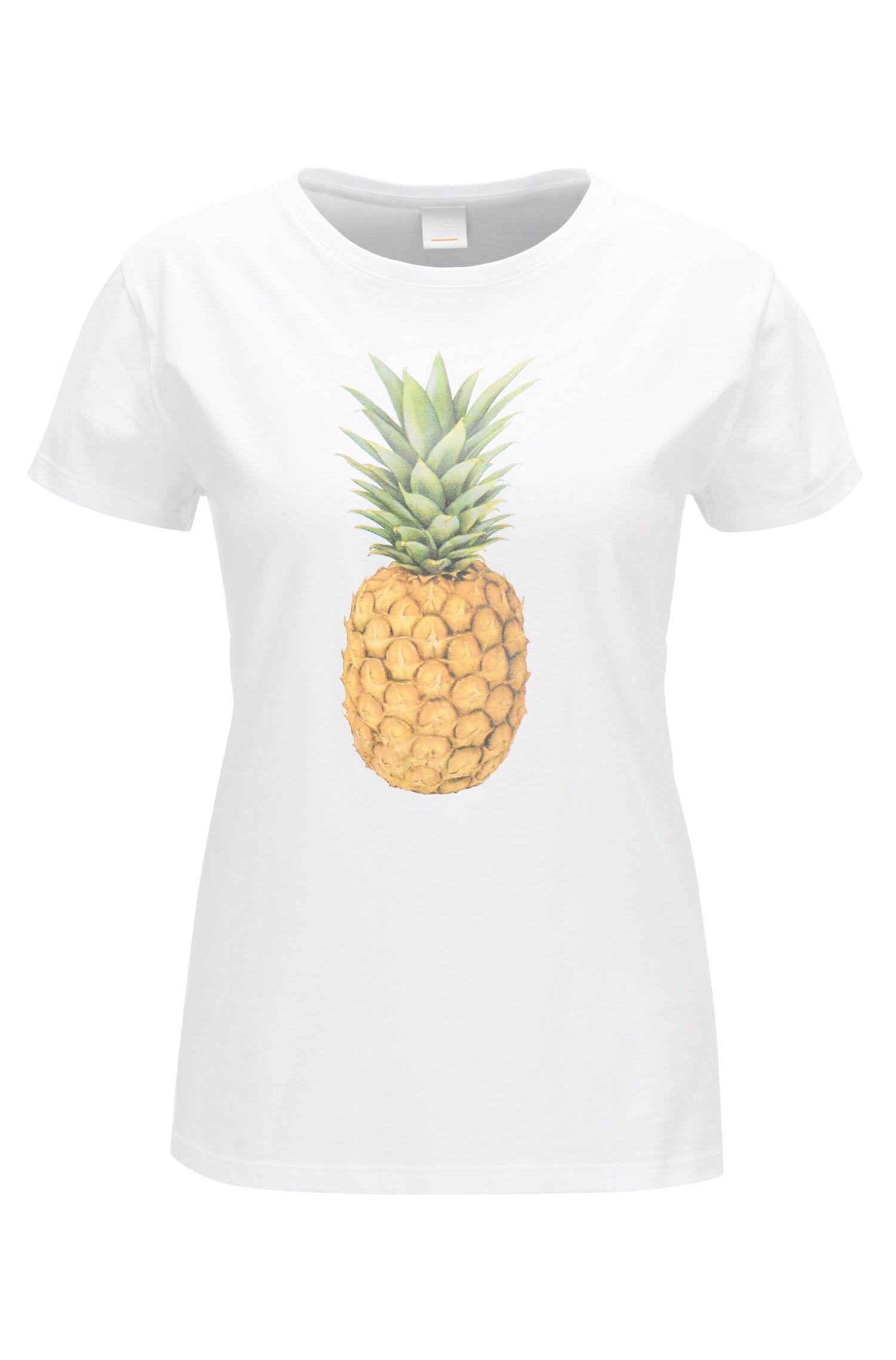 T-Shirt aus Baumwoll-Jersey mit Ananas-Print