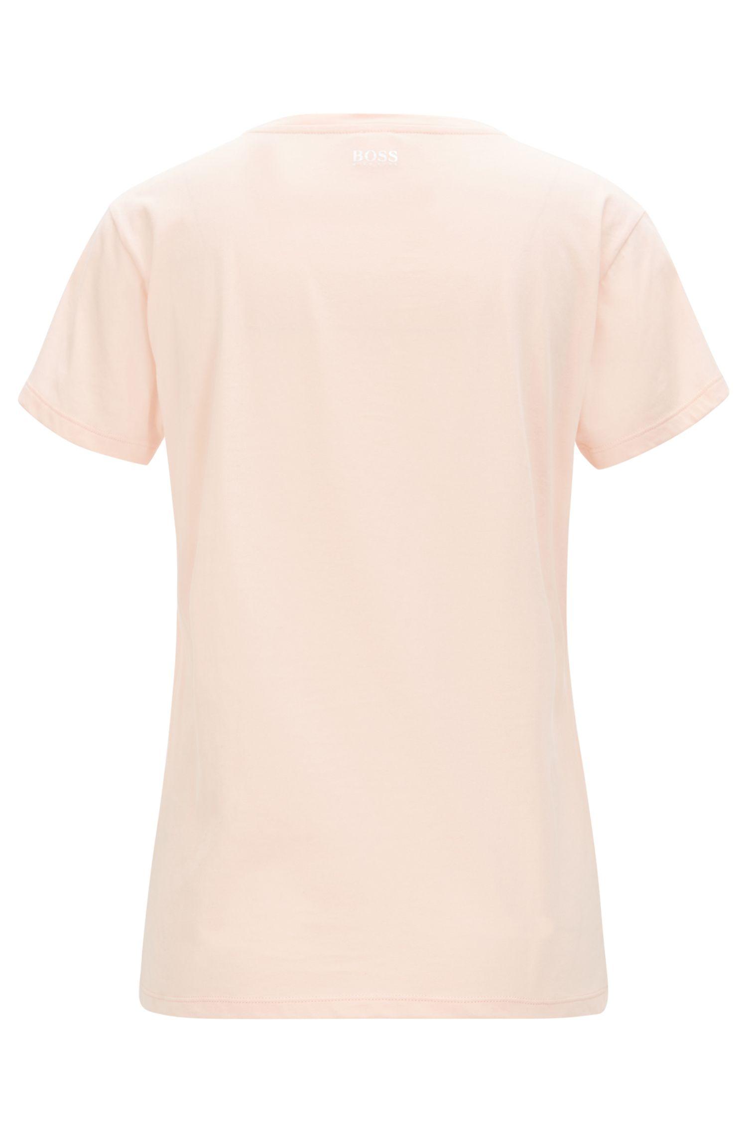 Camiseta en punto de algodón con estampado de piña