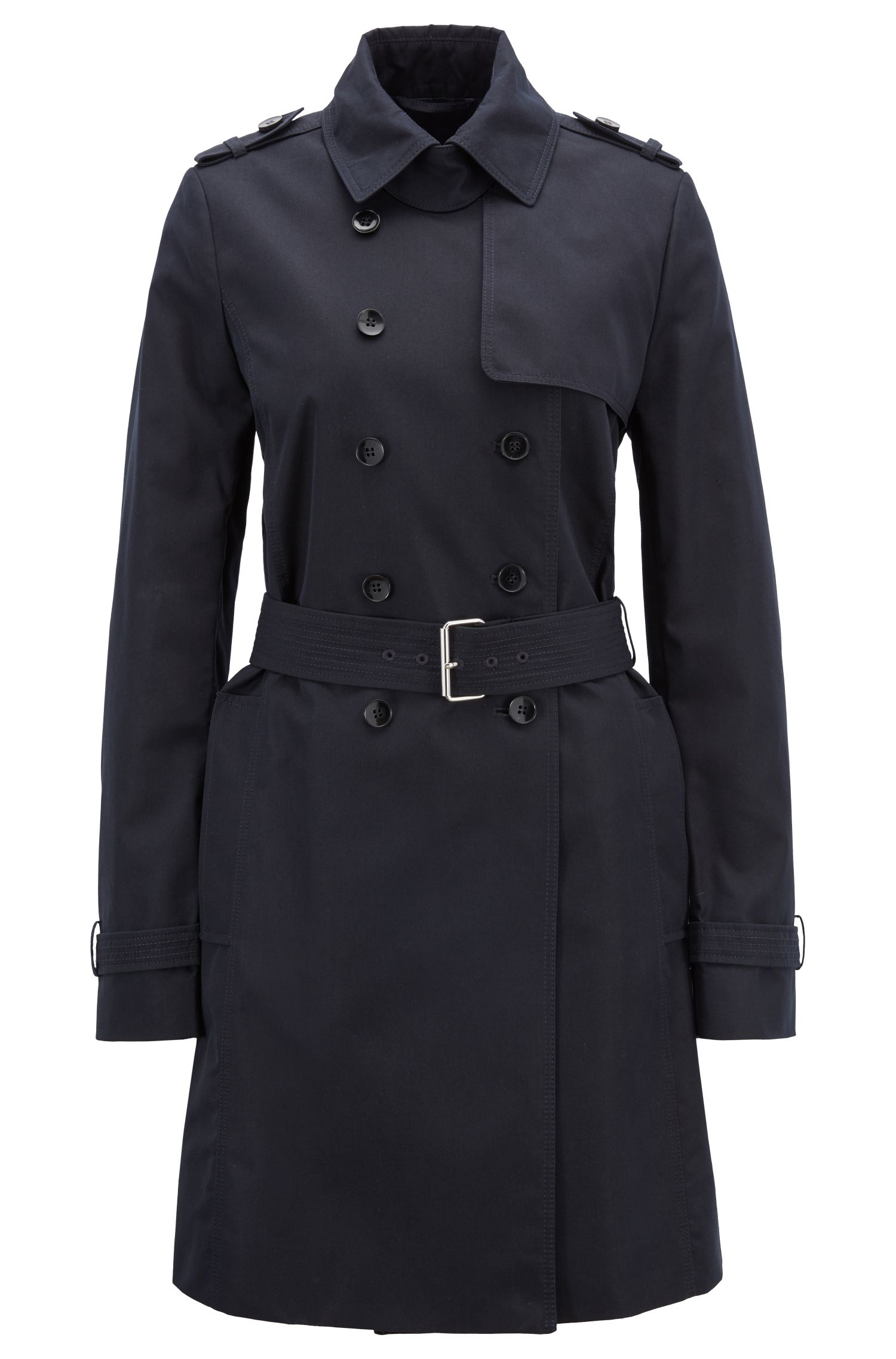 Cotton-blend trench coat in a regular fit
