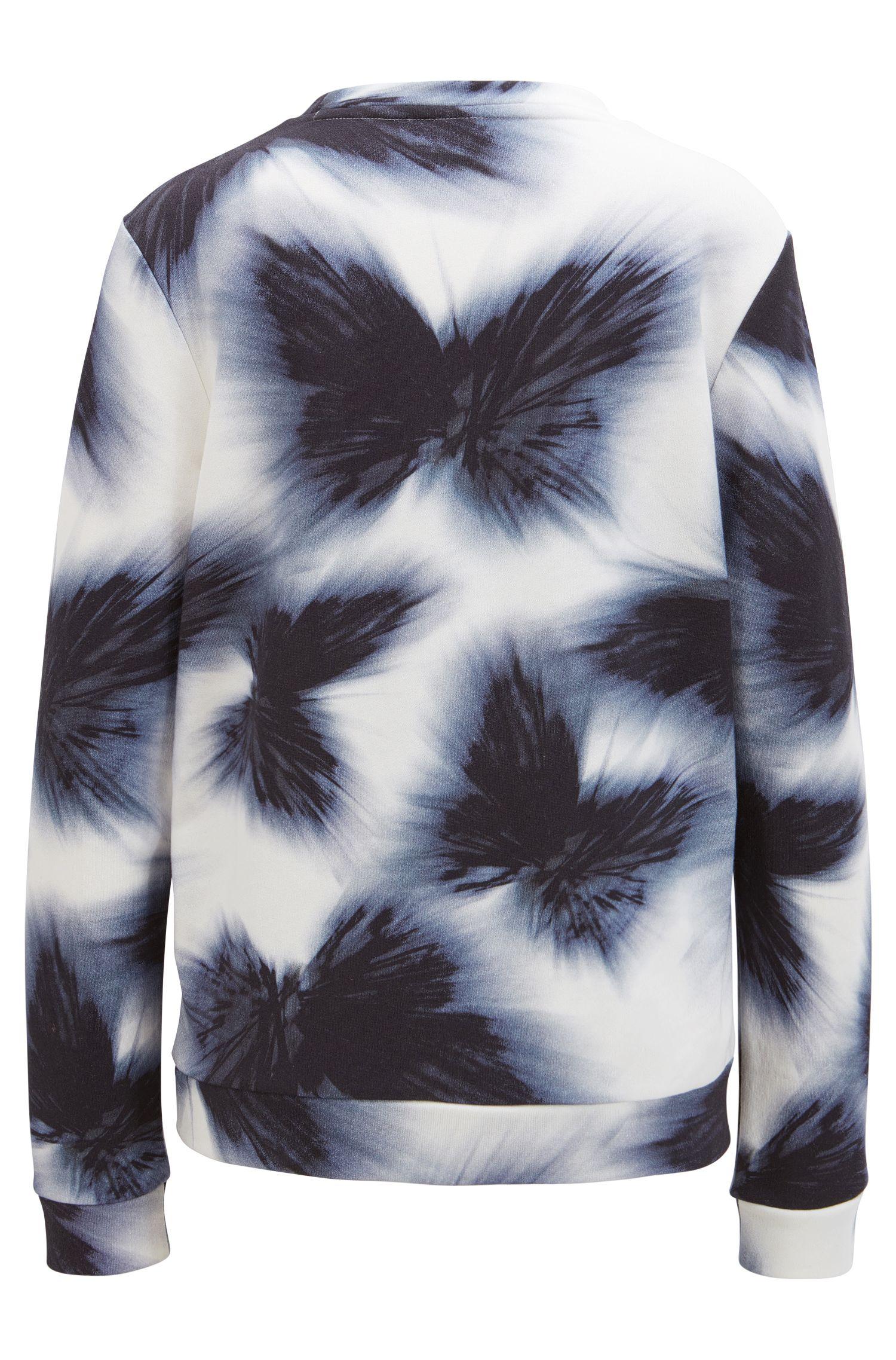 Farbenfroher Pullover aus Baumwoll-Mix mit Modal und Seide