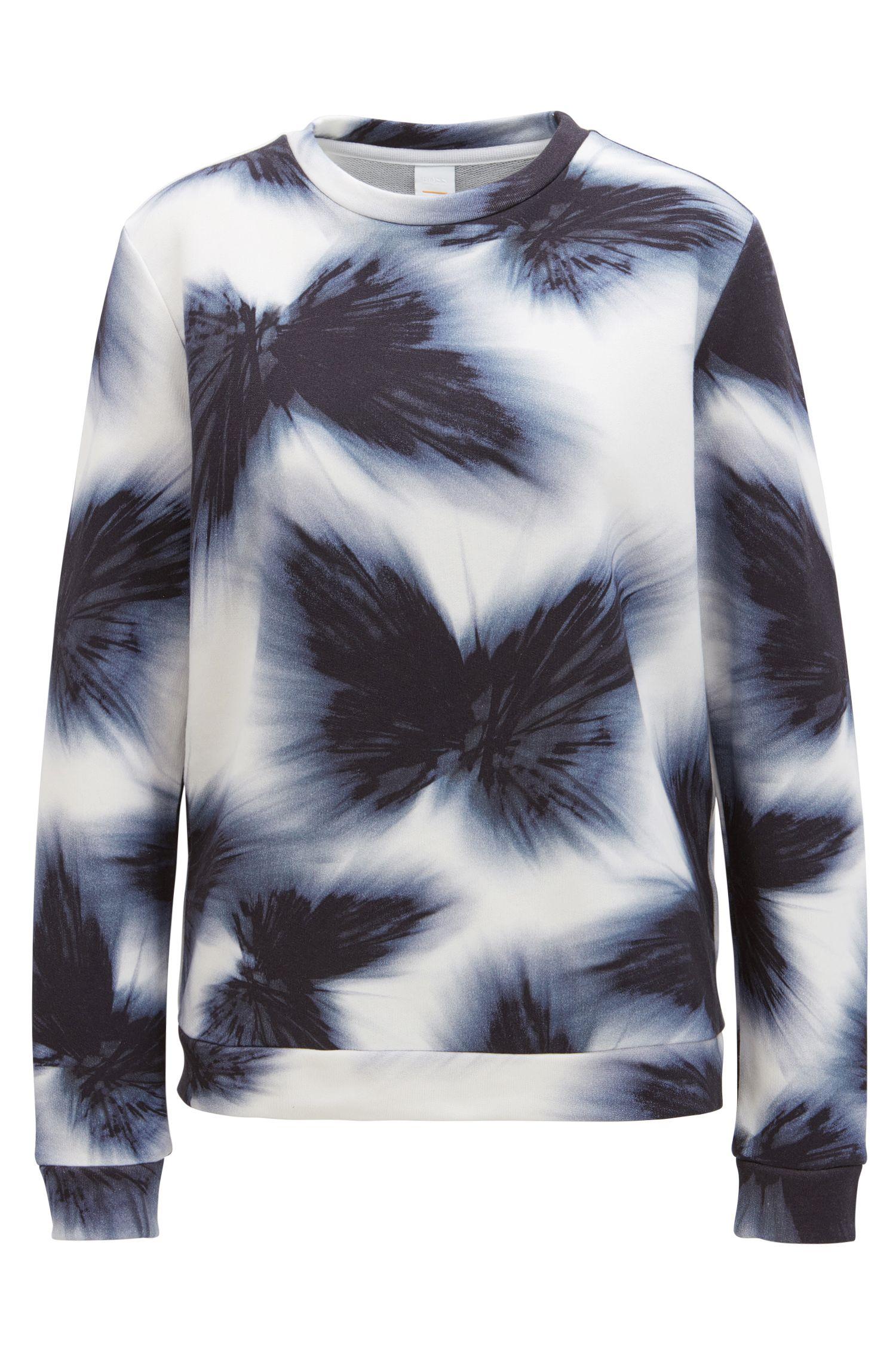 Meerkleurige trui van badstof van een katoenmix