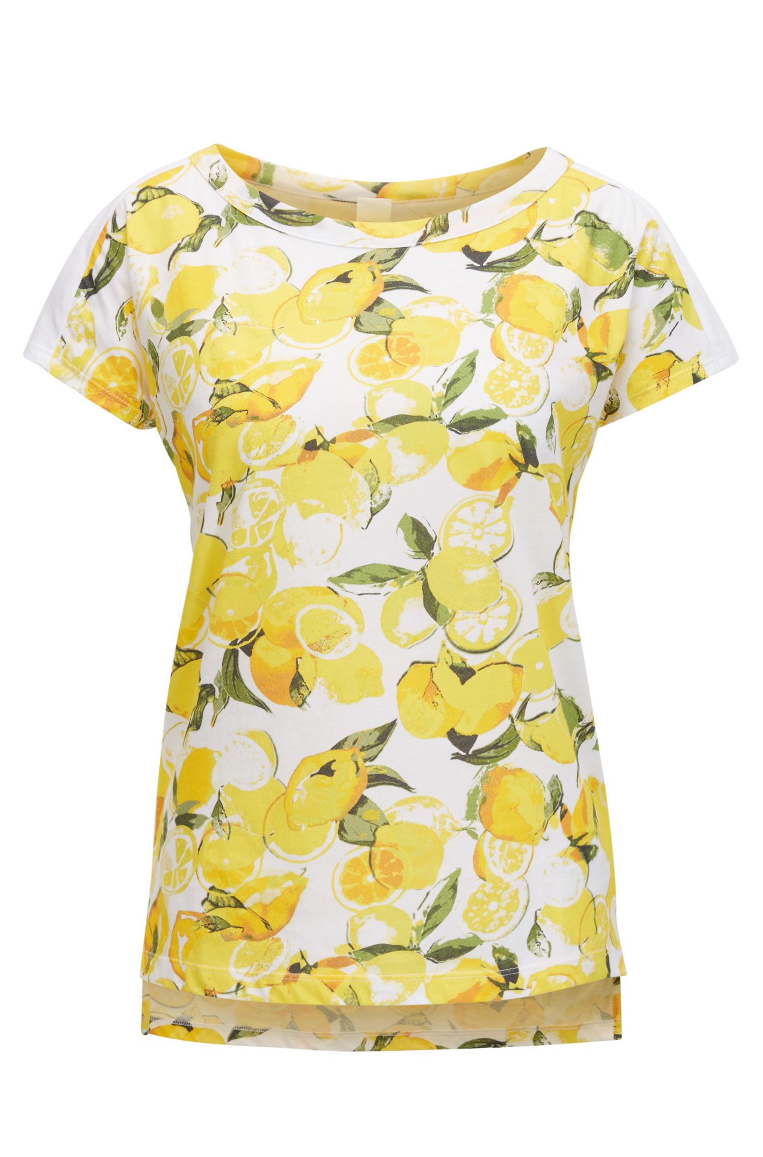 T-shirt Relaxed Fit en coton à imprimé citron