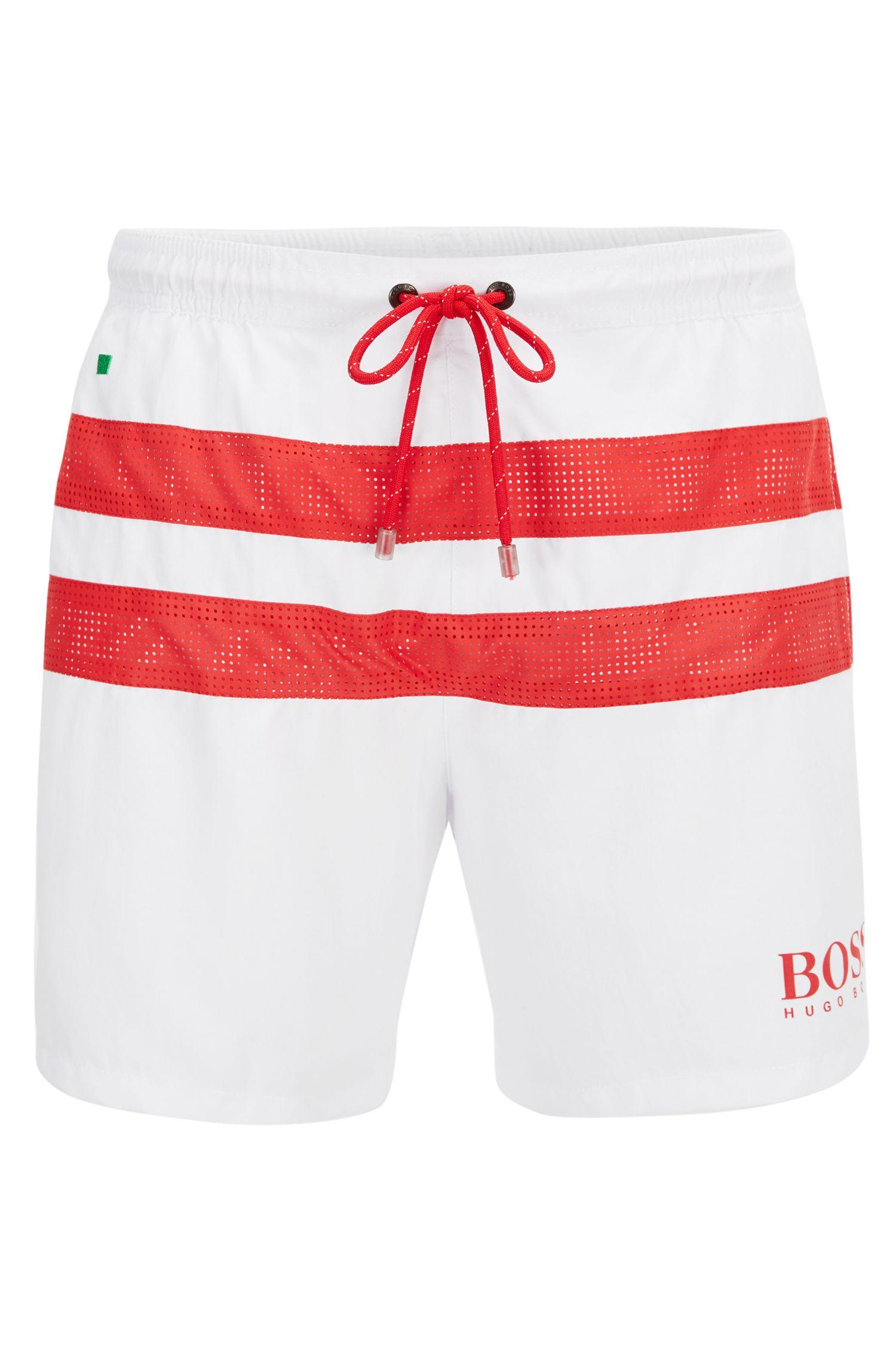 Boxer da bagno leggeri con dettaglio con bandiera