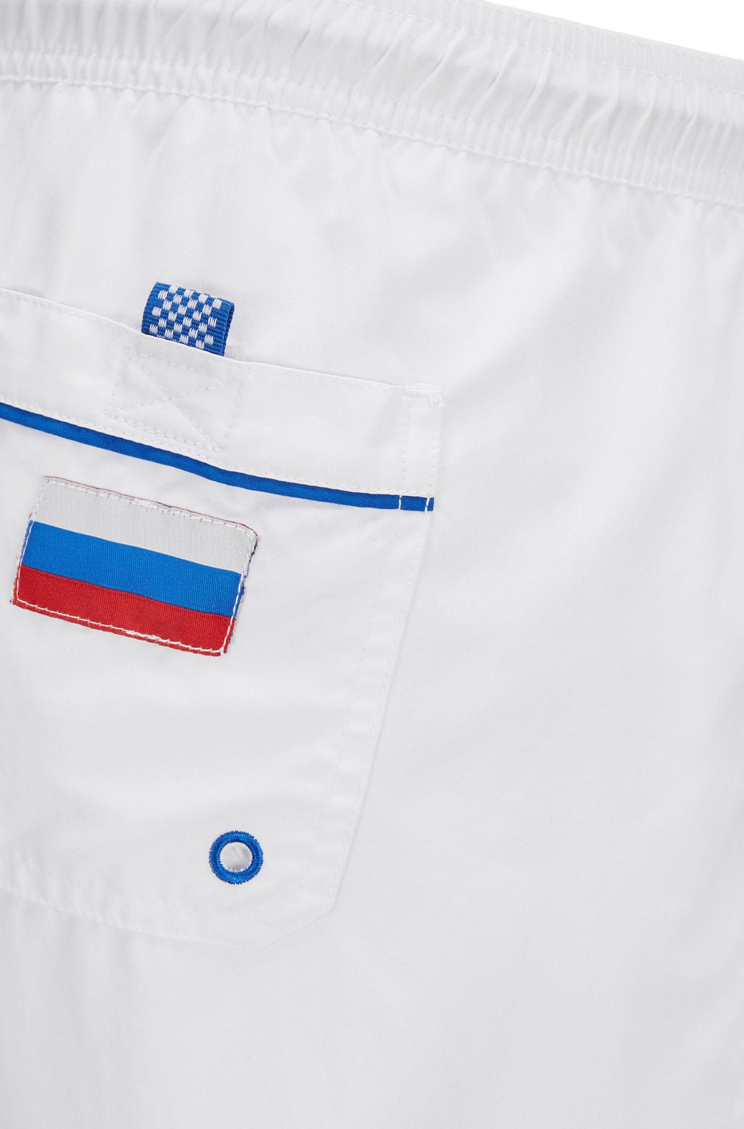 Short de bain léger à motif drapeau