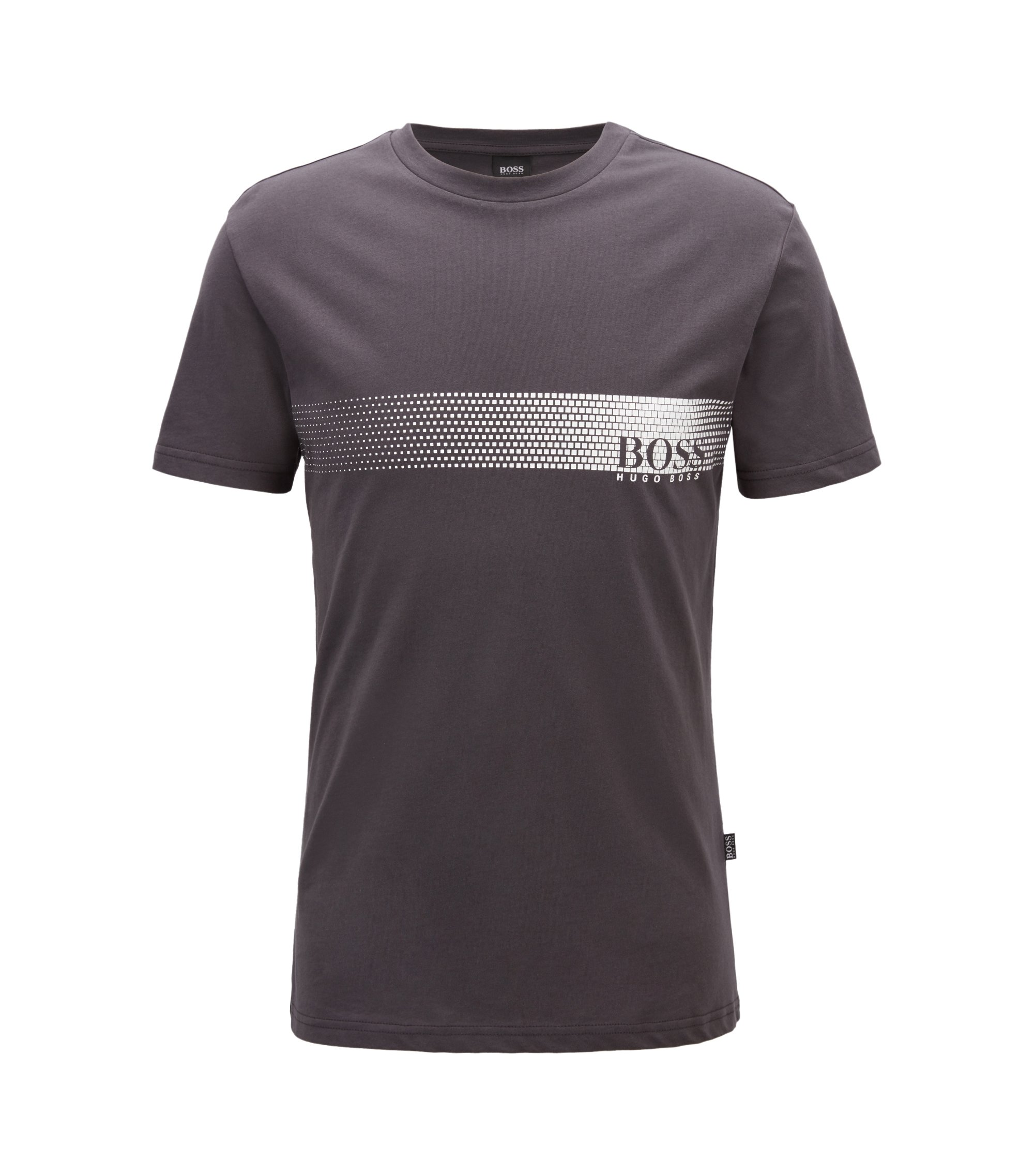 Sunsafe logo T-shirt in cotton, Anthracite