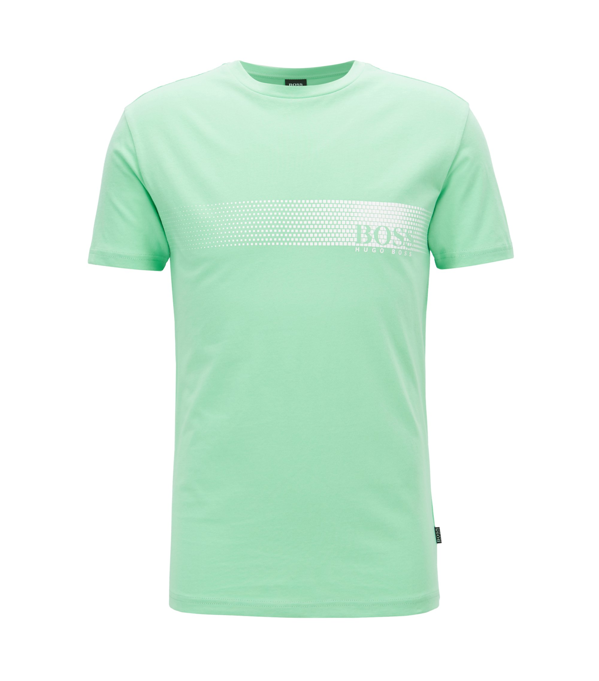 Sunsafe logo T-shirt in cotton, Light Green