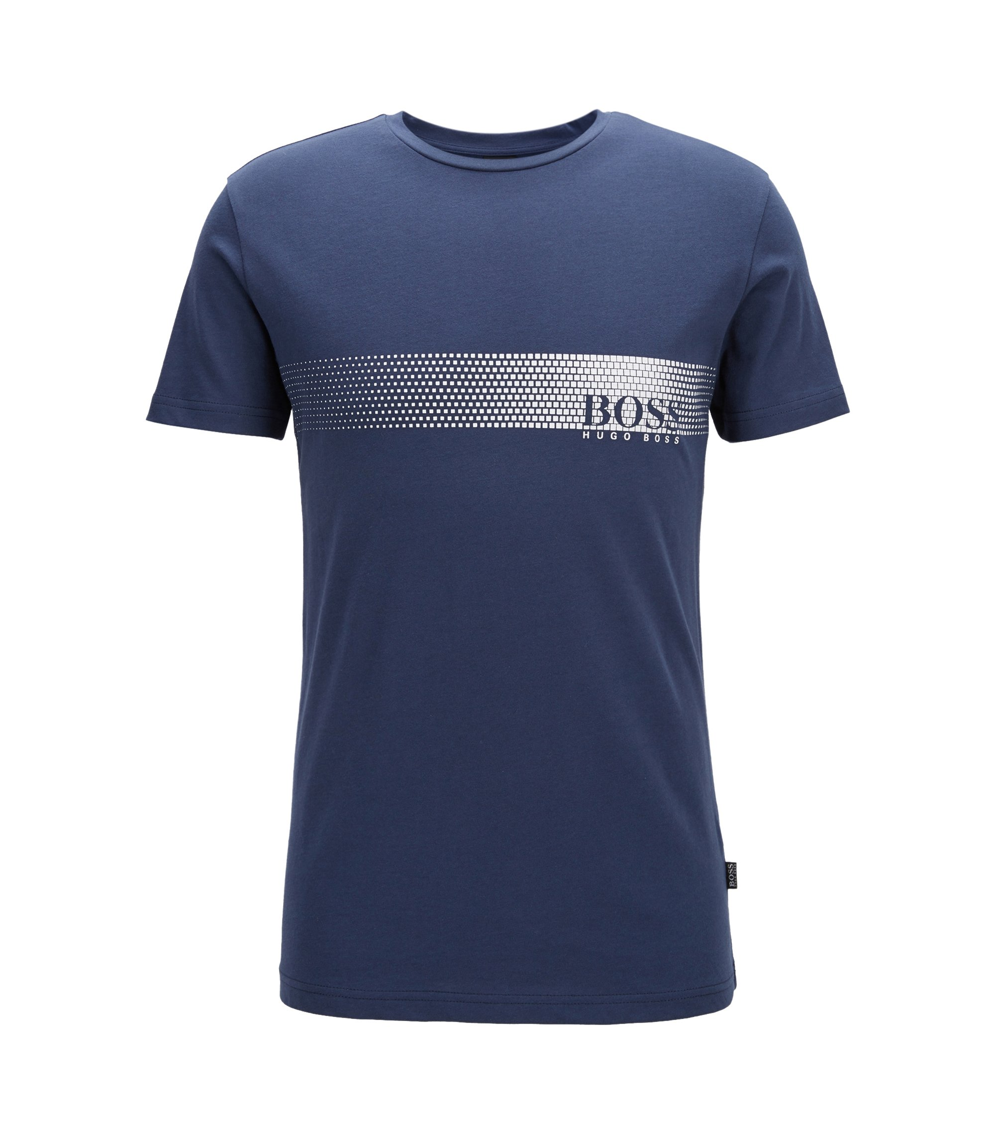 Sunsafe logo T-shirt in cotton, Dark Blue
