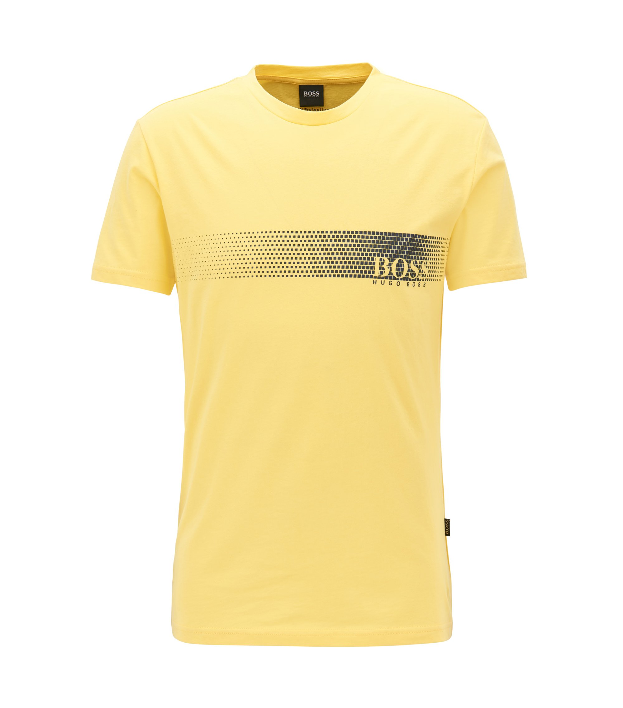 Sunsafe logo T-shirt in cotton, Yellow
