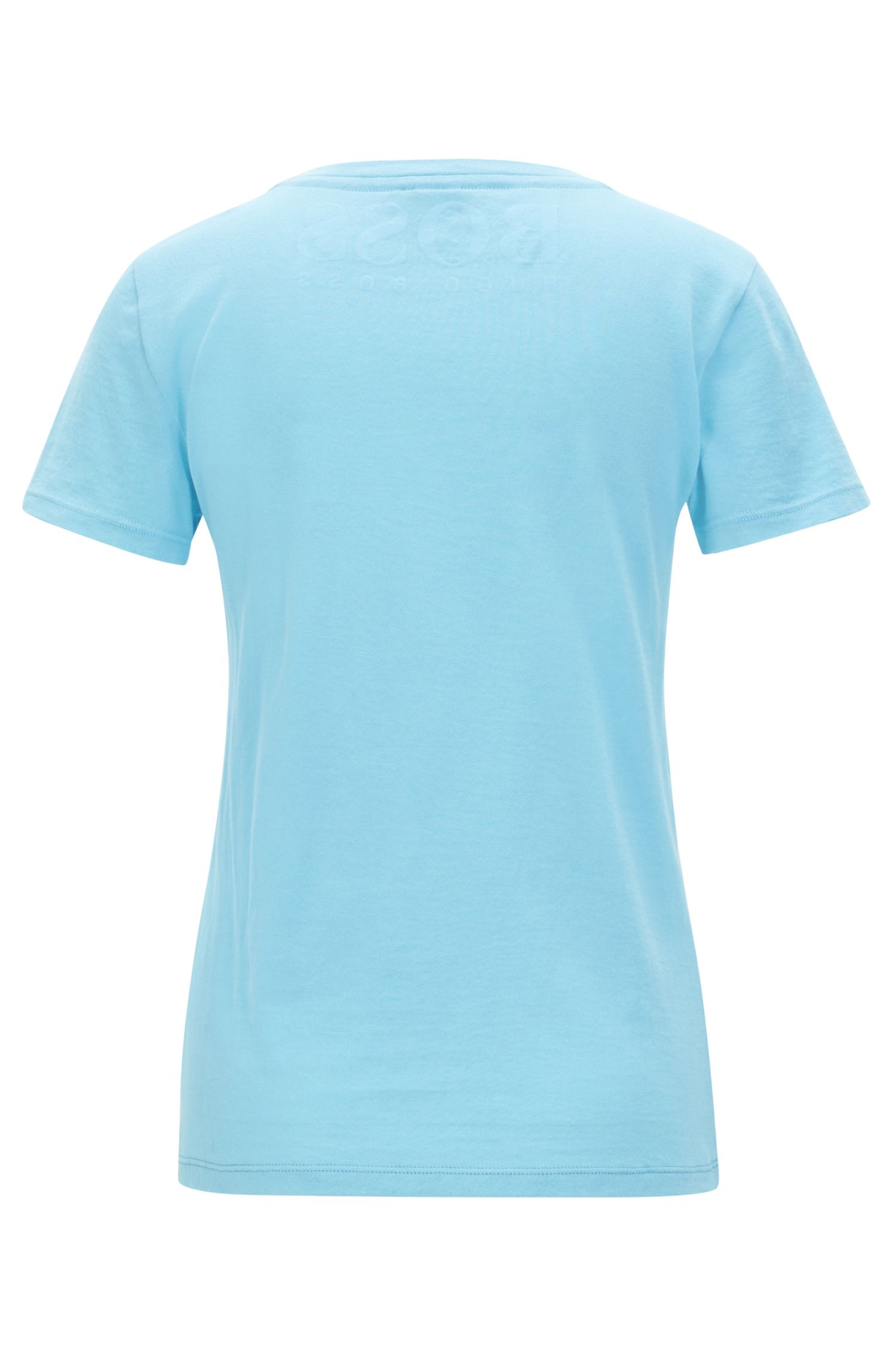 T-shirt slim fit in jersey di cotone