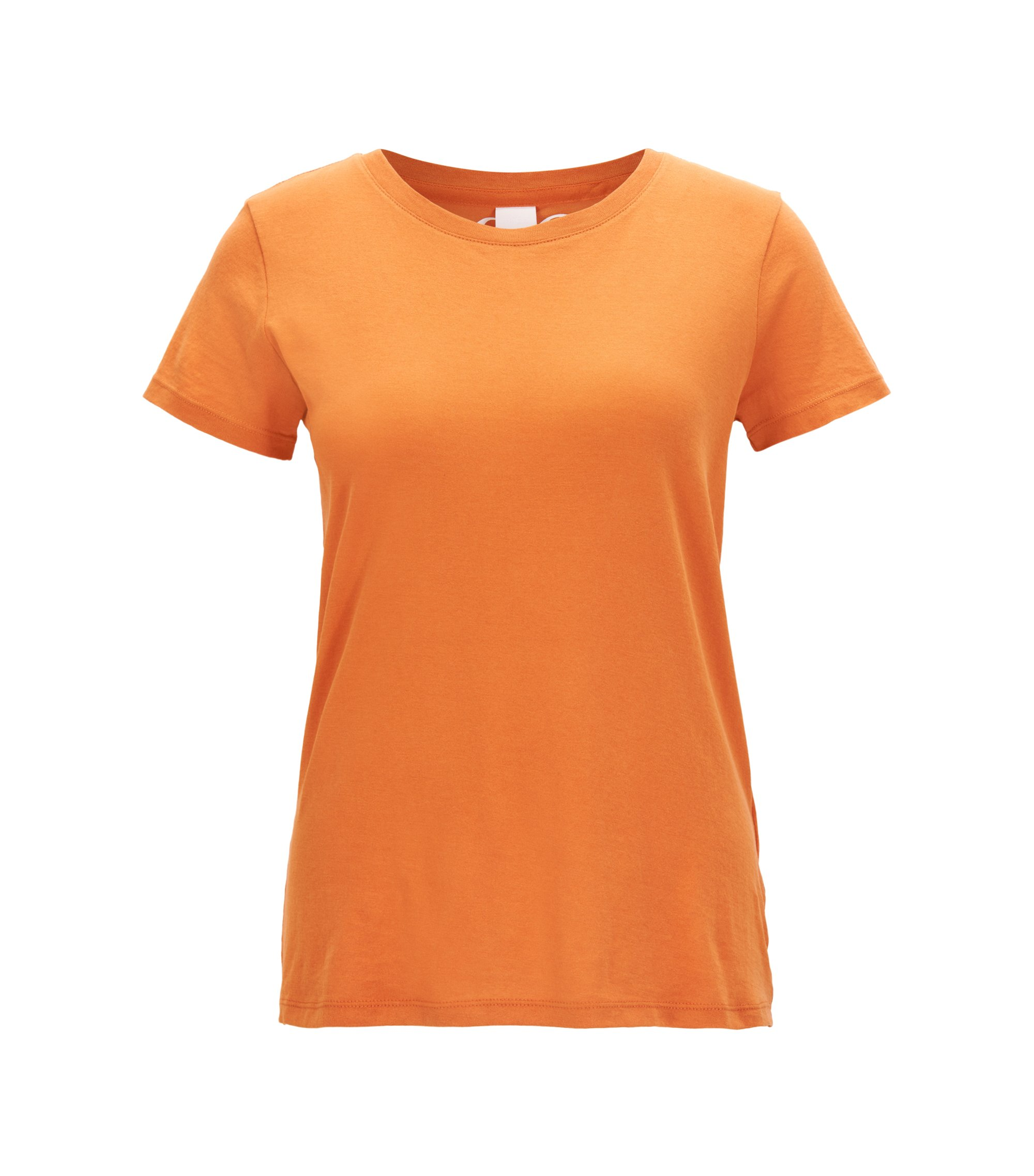 Slim-fit T-shirt in cotton single jersey, Orange