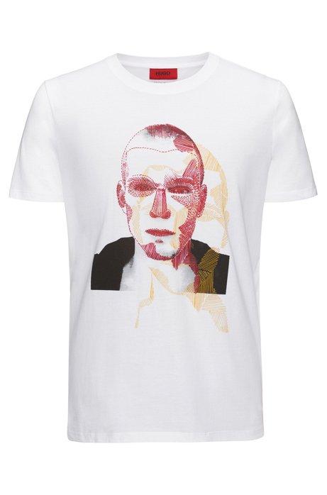 HUGO BOSS T-shirt Relaxed Fit à motif arty original QBgj31d