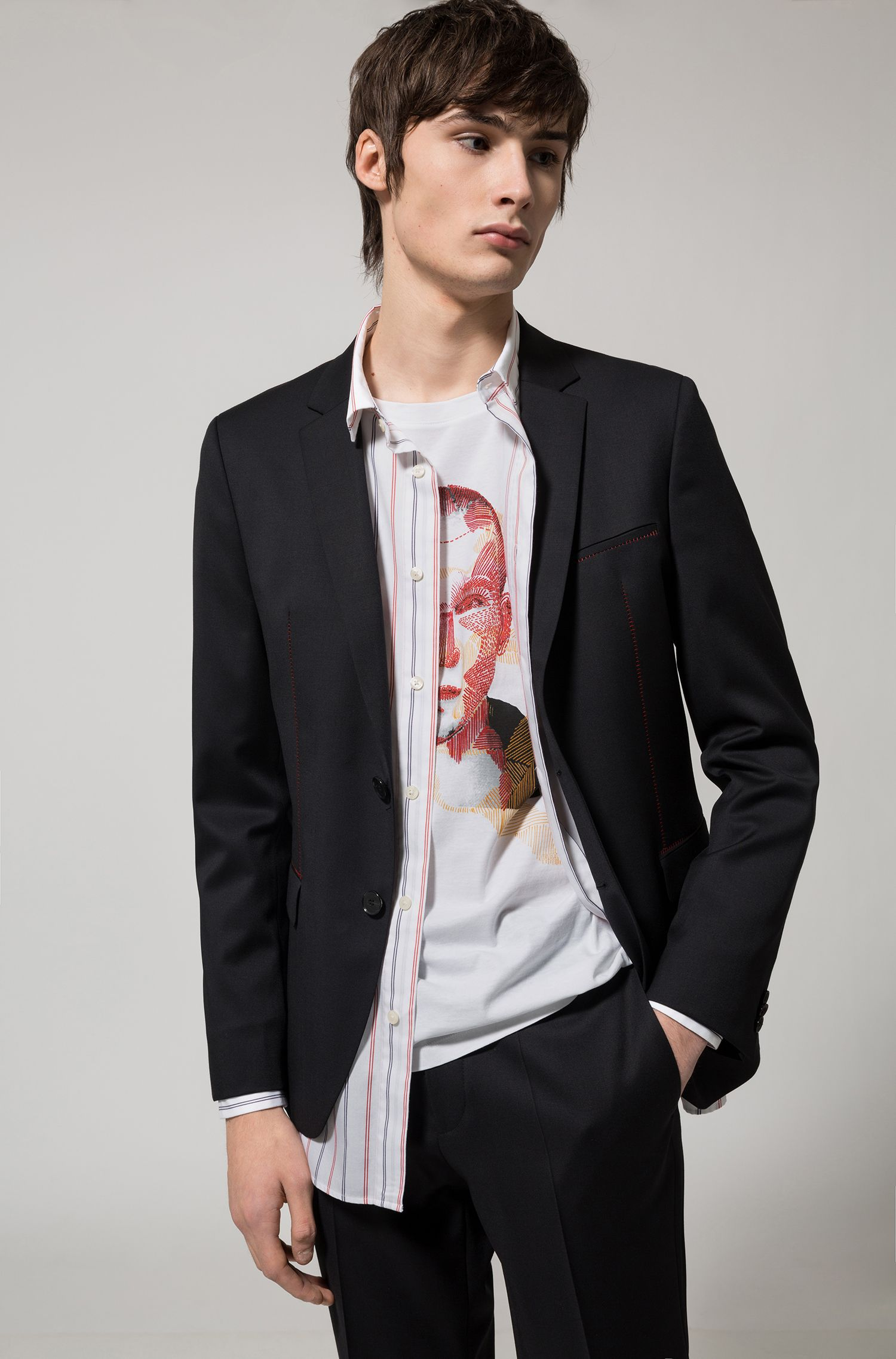 T-shirt Relaxed Fit en coton à motif artistique original