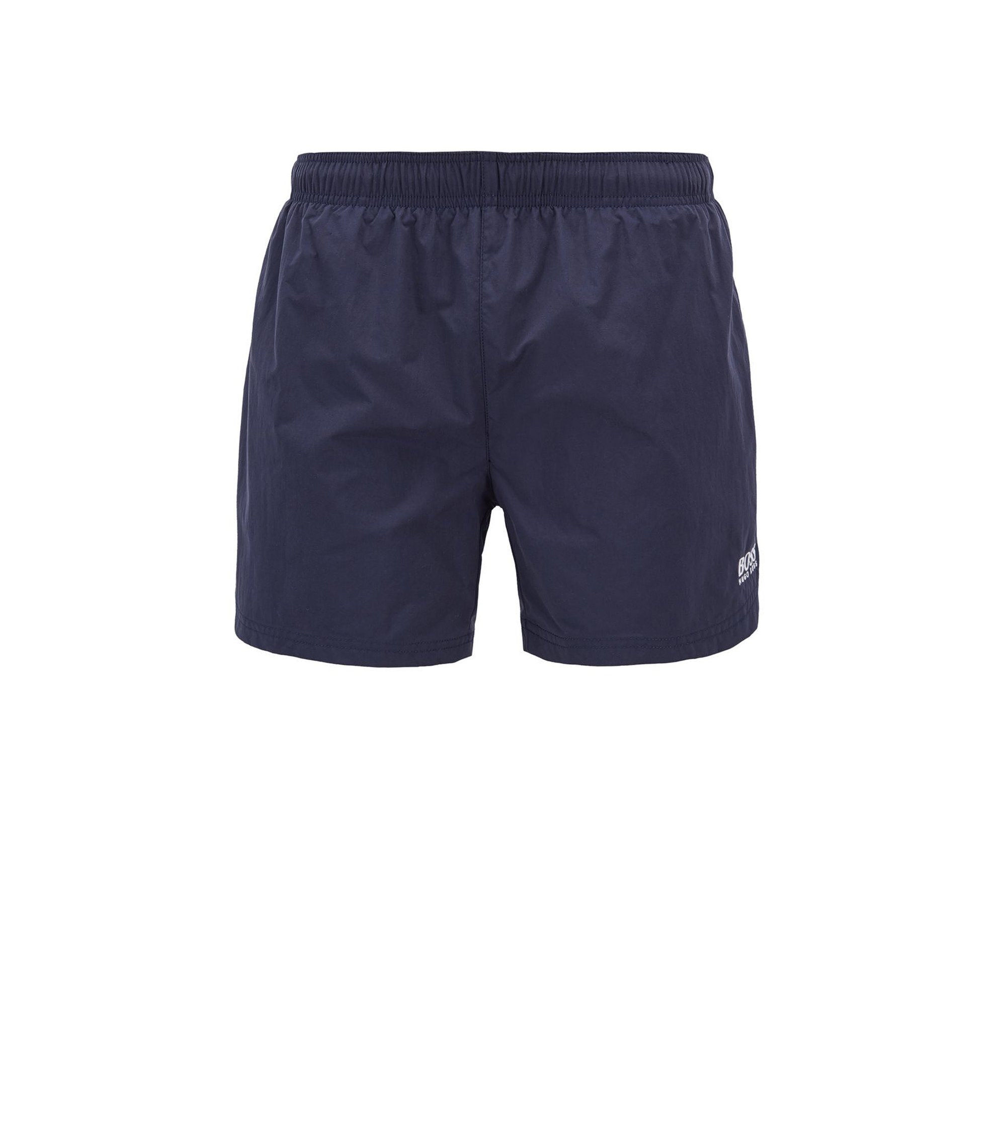 Sneldrogende zwemshort met logostiksel, Donkerblauw