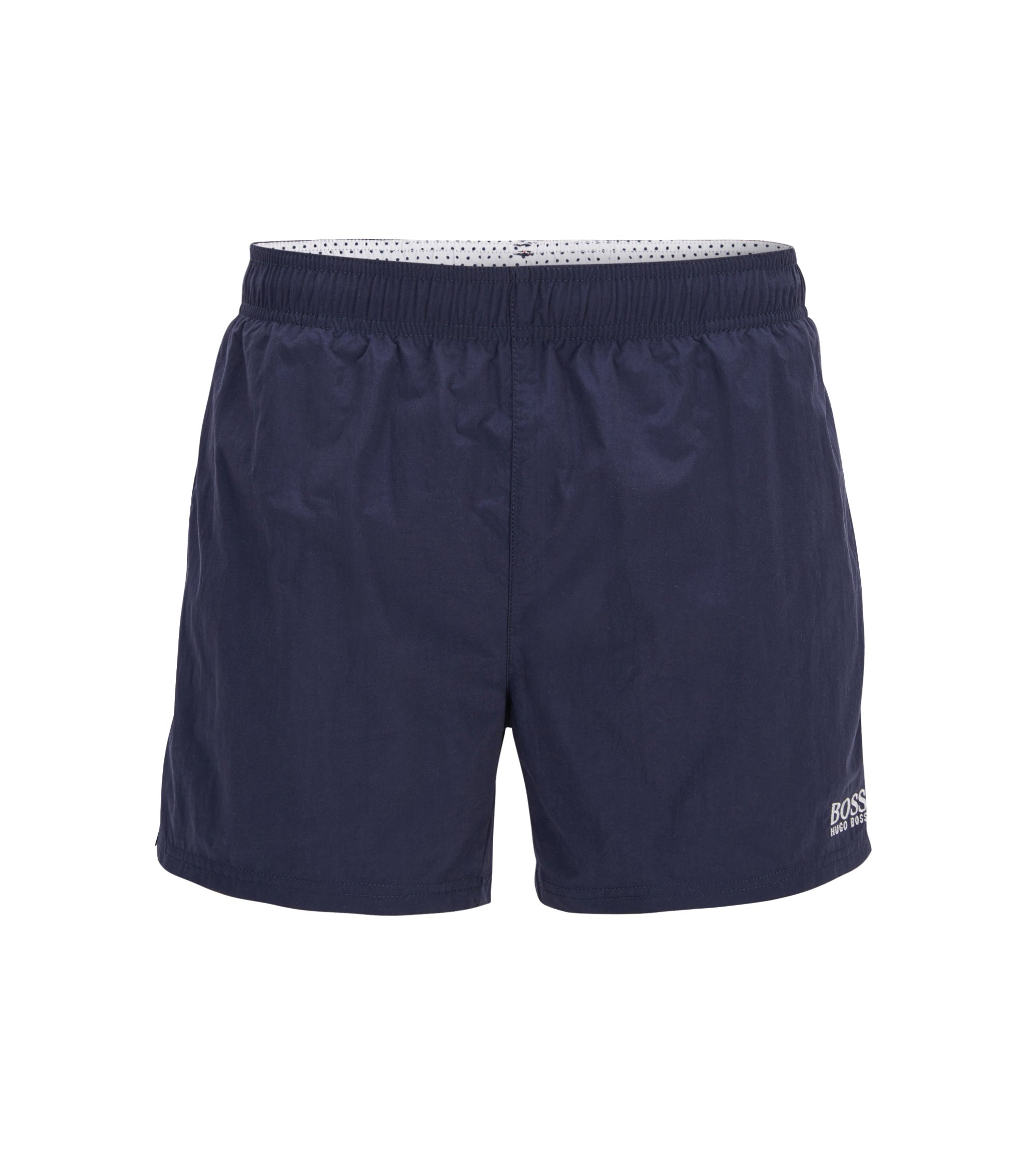 Quick-drying swim shorts with embroidered logo, Dark Blue