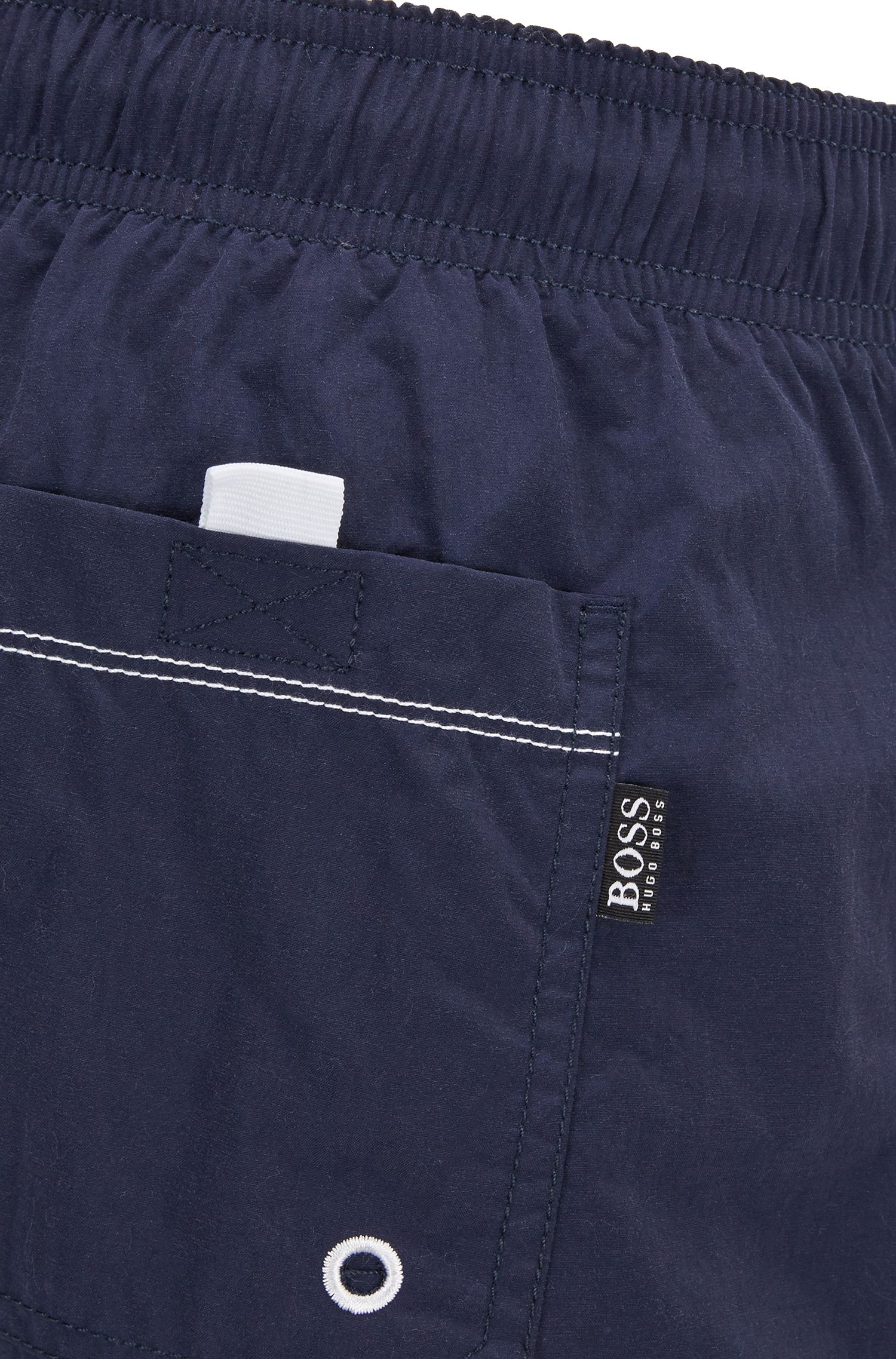 Quick-drying swim shorts with embroidered logo