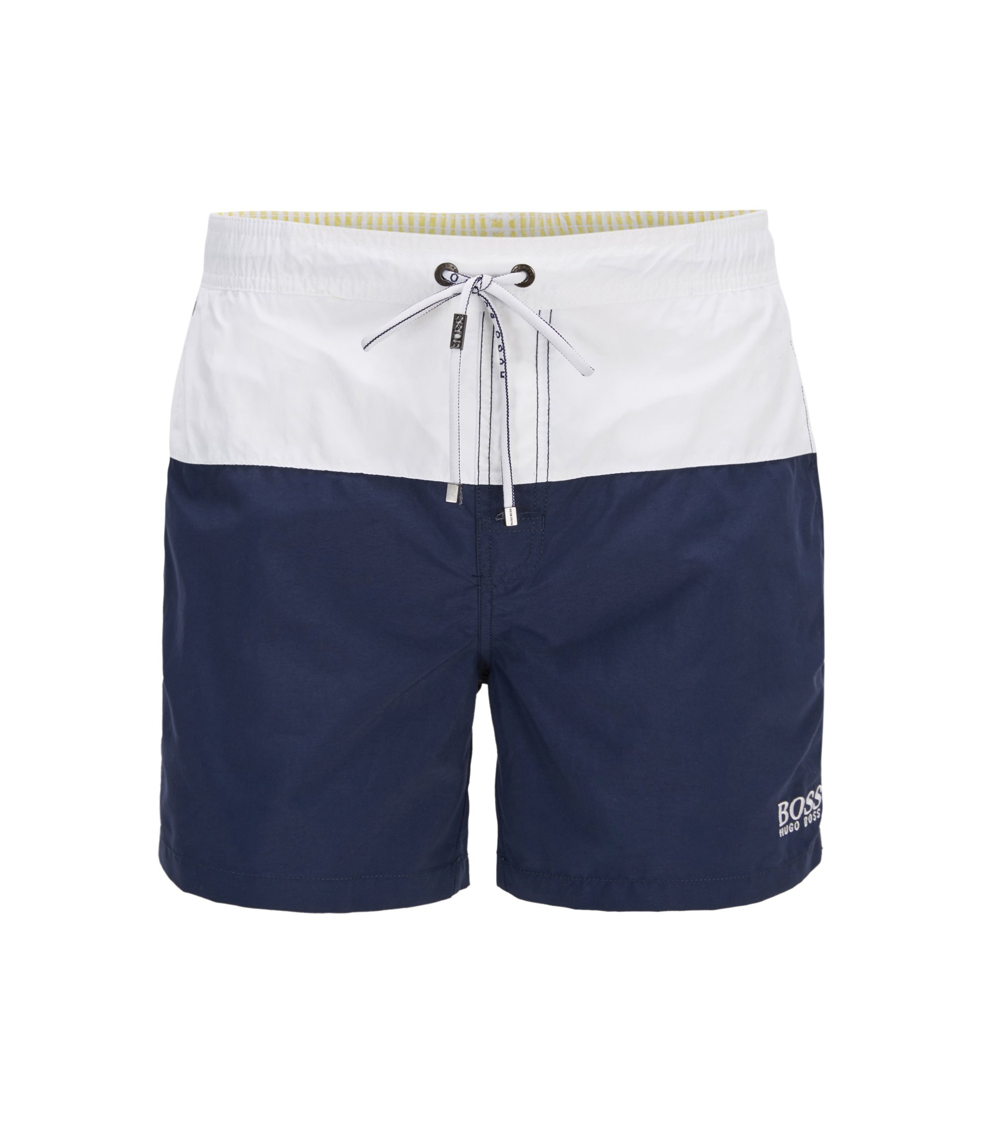 Swim shorts in quick-drying technical fabric, Open Blue