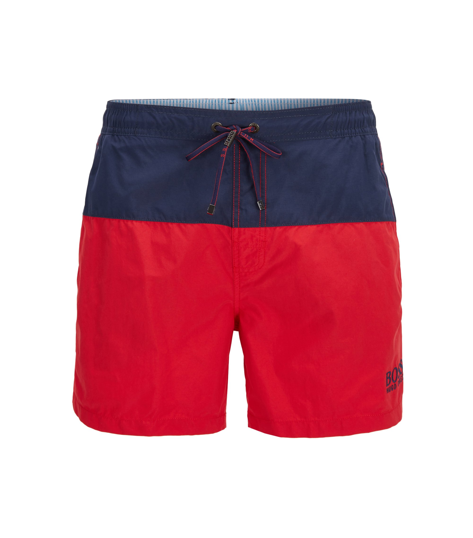 Swim shorts in quick-drying technical fabric, Open Red