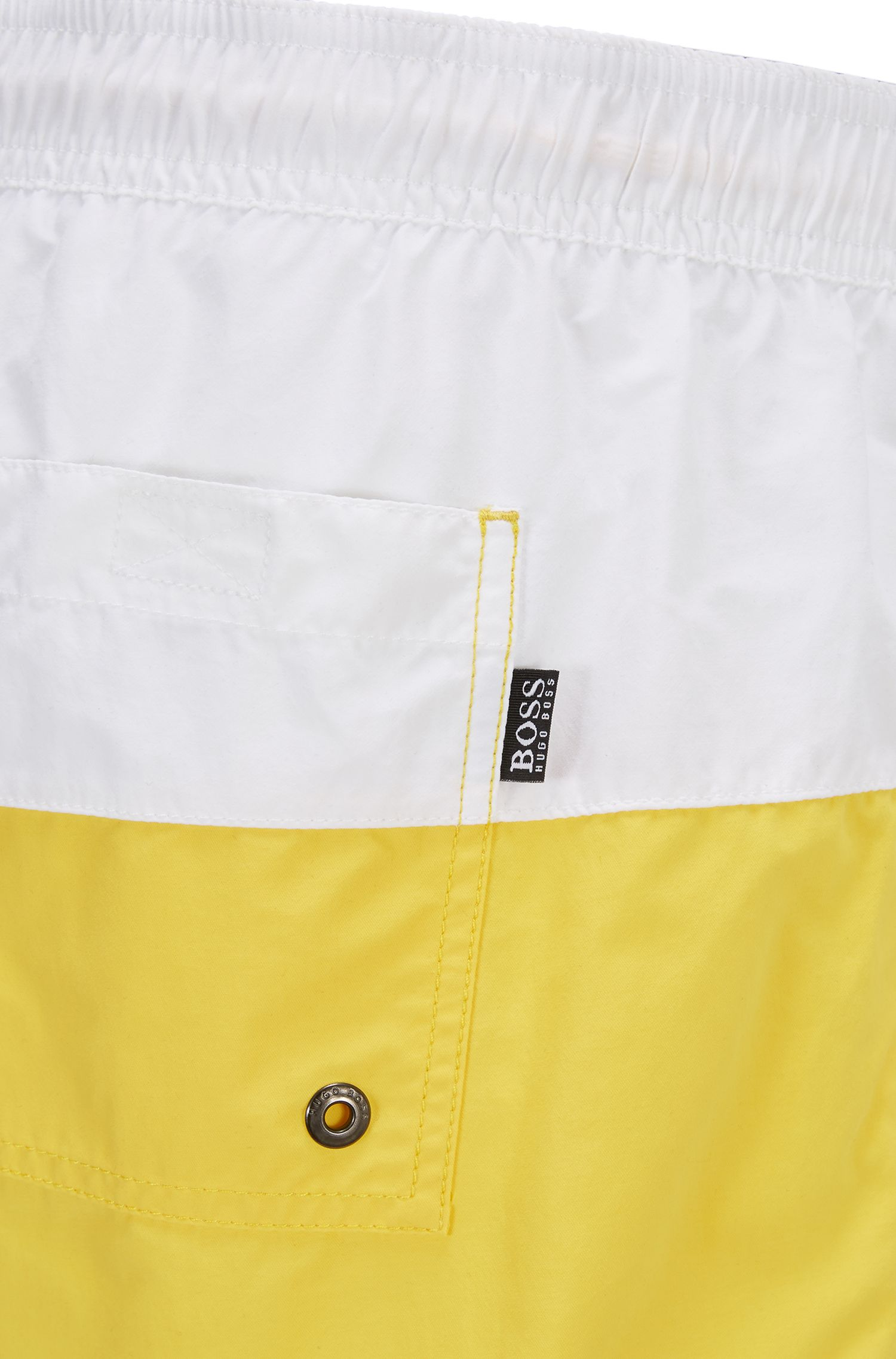 Swim shorts in quick-drying technical fabric, Open Yellow