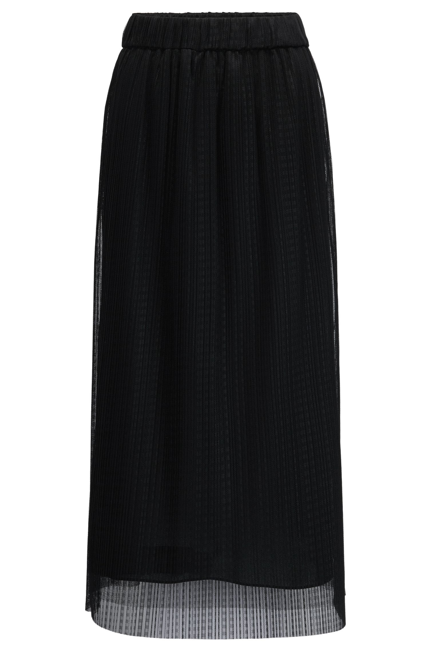 Midi-length skirt in layered tulle