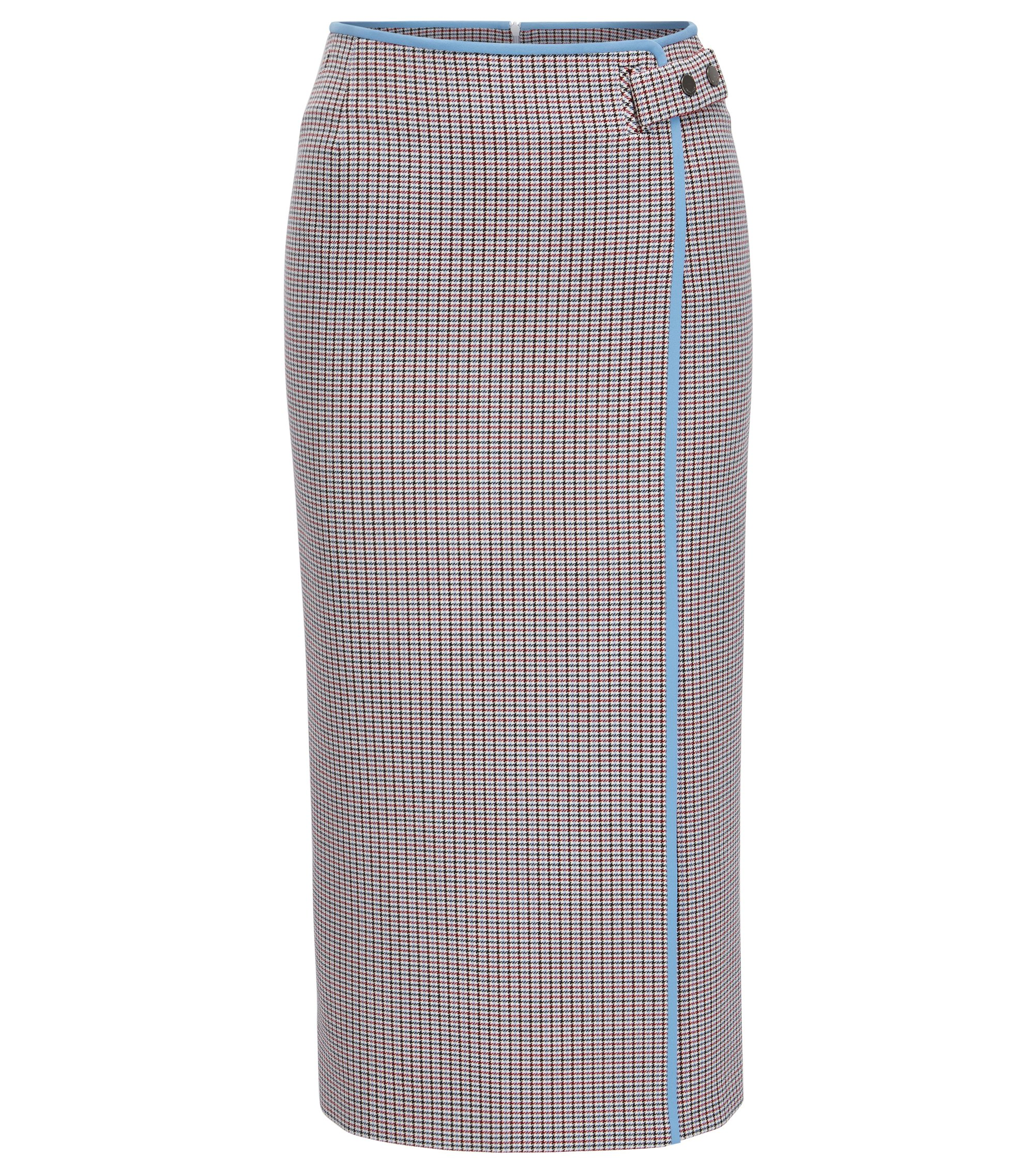 Pencil skirt in double-faced fabric, Patterned