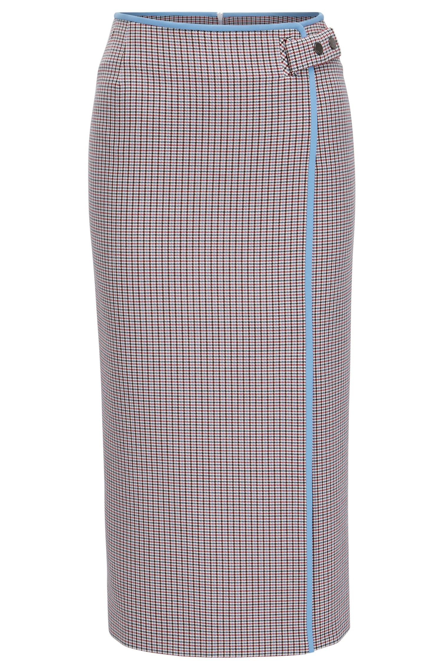 Pencil skirt in double-faced fabric
