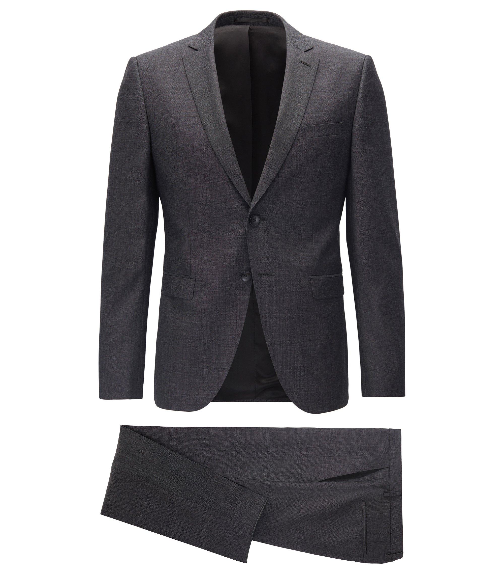 Extra Slim-Fit Anzug aus reiner Schurwolle, Anthrazit