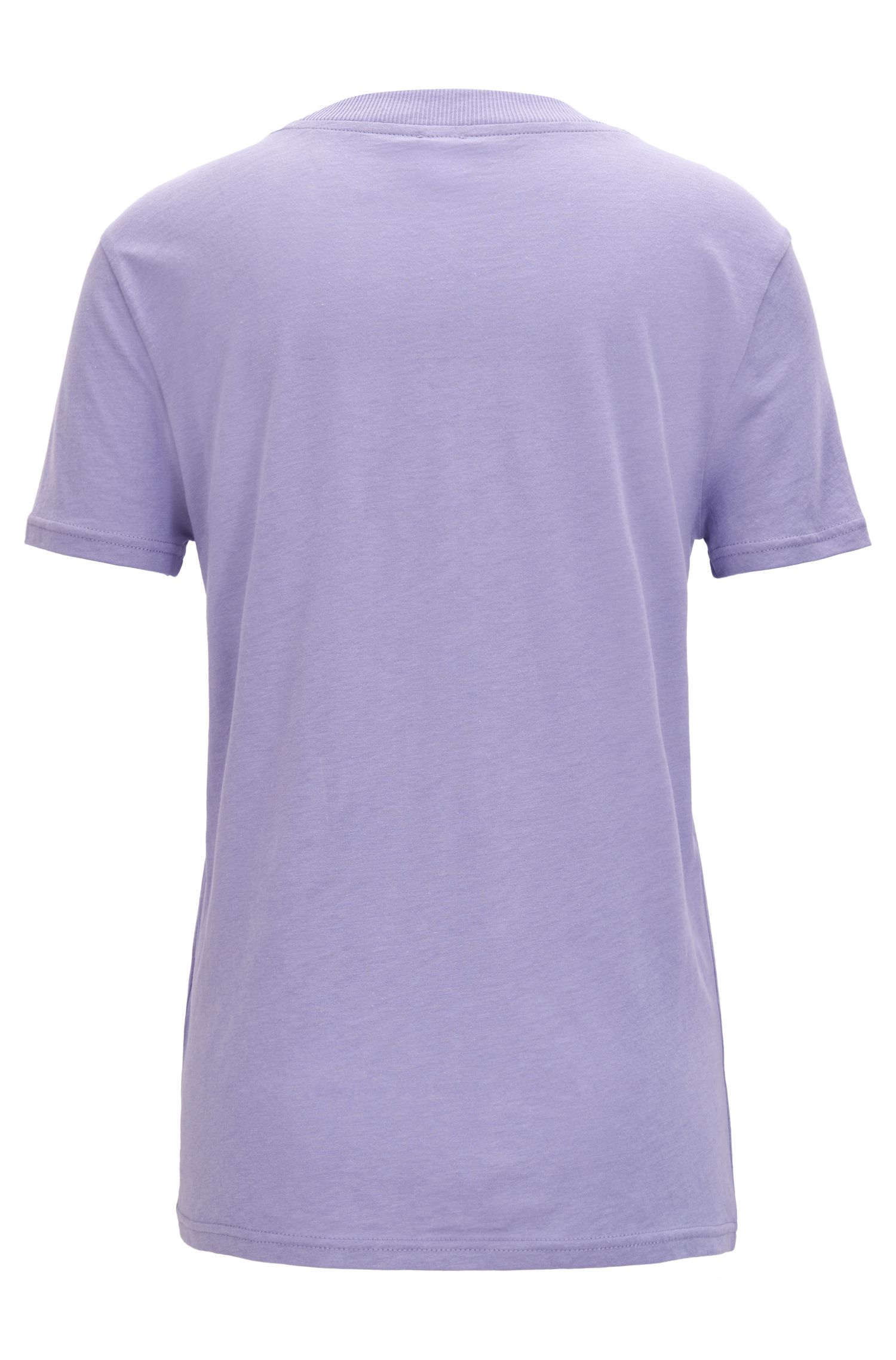 Oversized-fit cotton-blend T-shirt with feature neckline