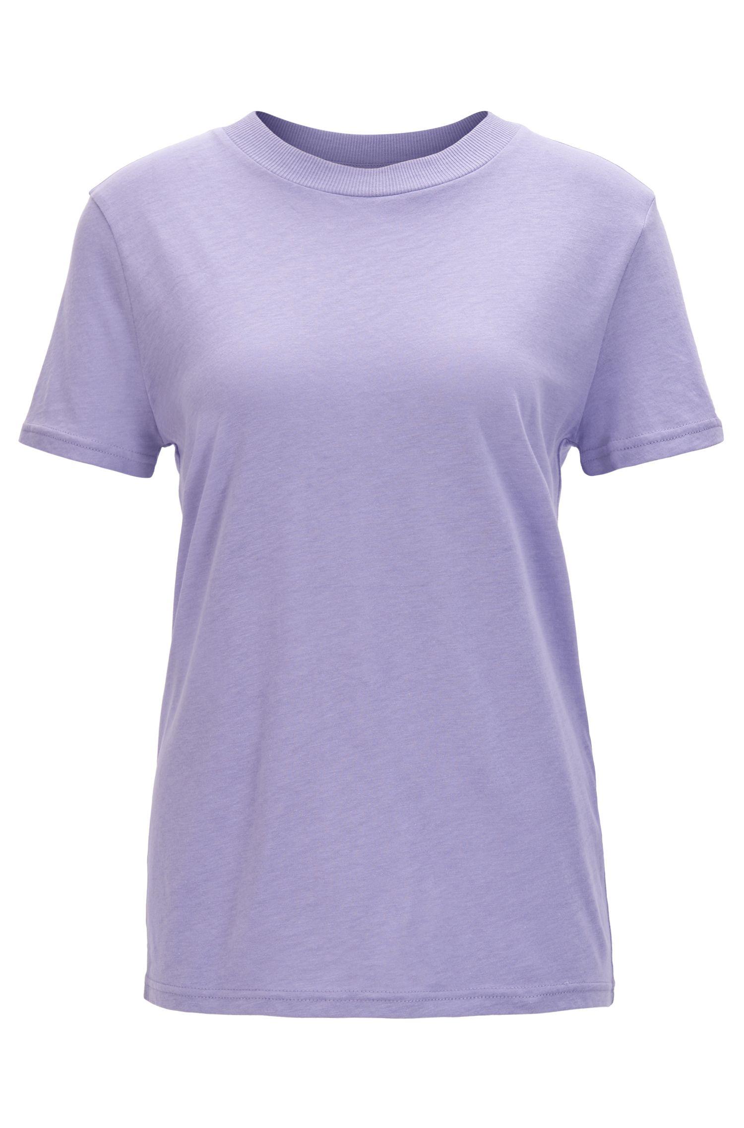 Camiseta oversized fit en mezcla de algodón con cuello especial