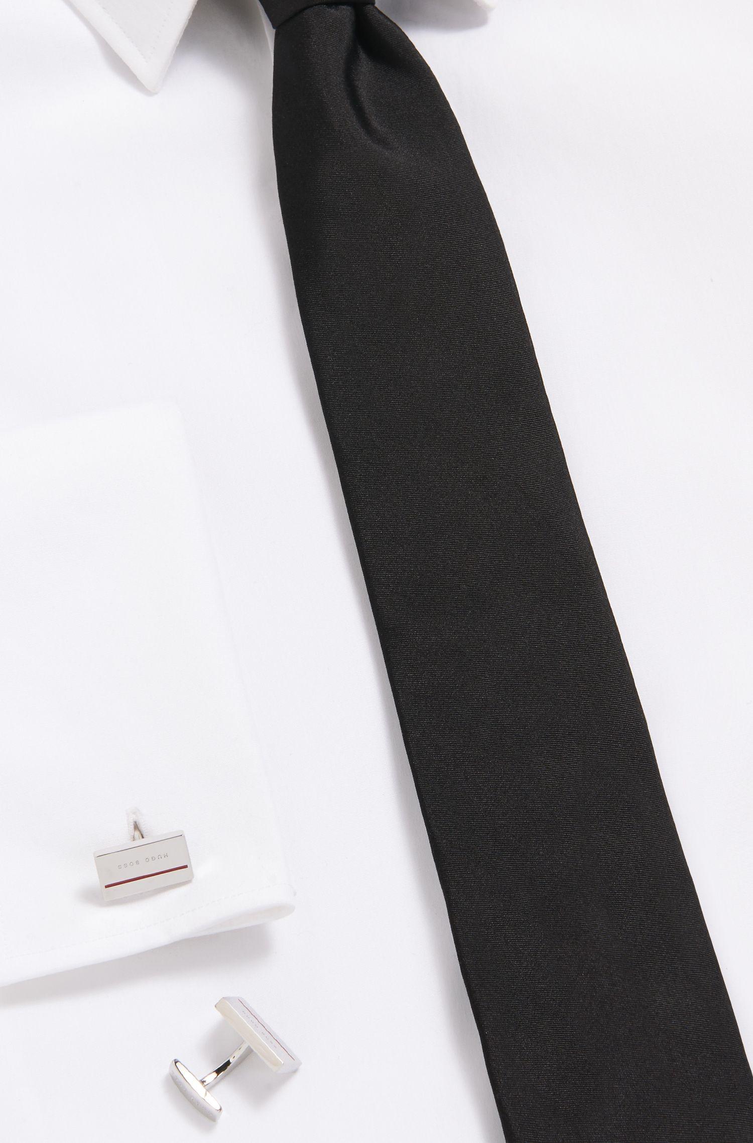 Rechteckige Manschettenknöpfe aus Messing mit farbigem Emaille-Detail