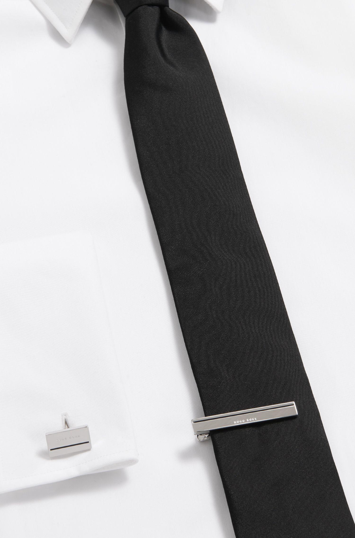 Épingle à cravate polie à la main avec émail coloré