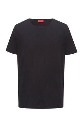 T-shirt Regular Fit à bords francs, Noir