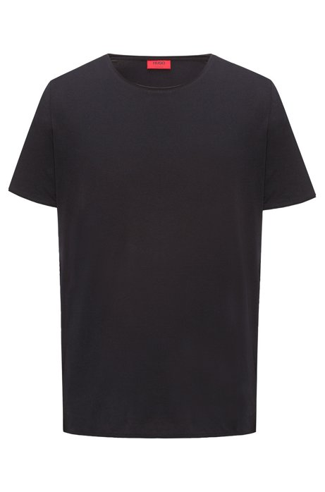 T-shirt Regular Fit en coton Pima, Noir