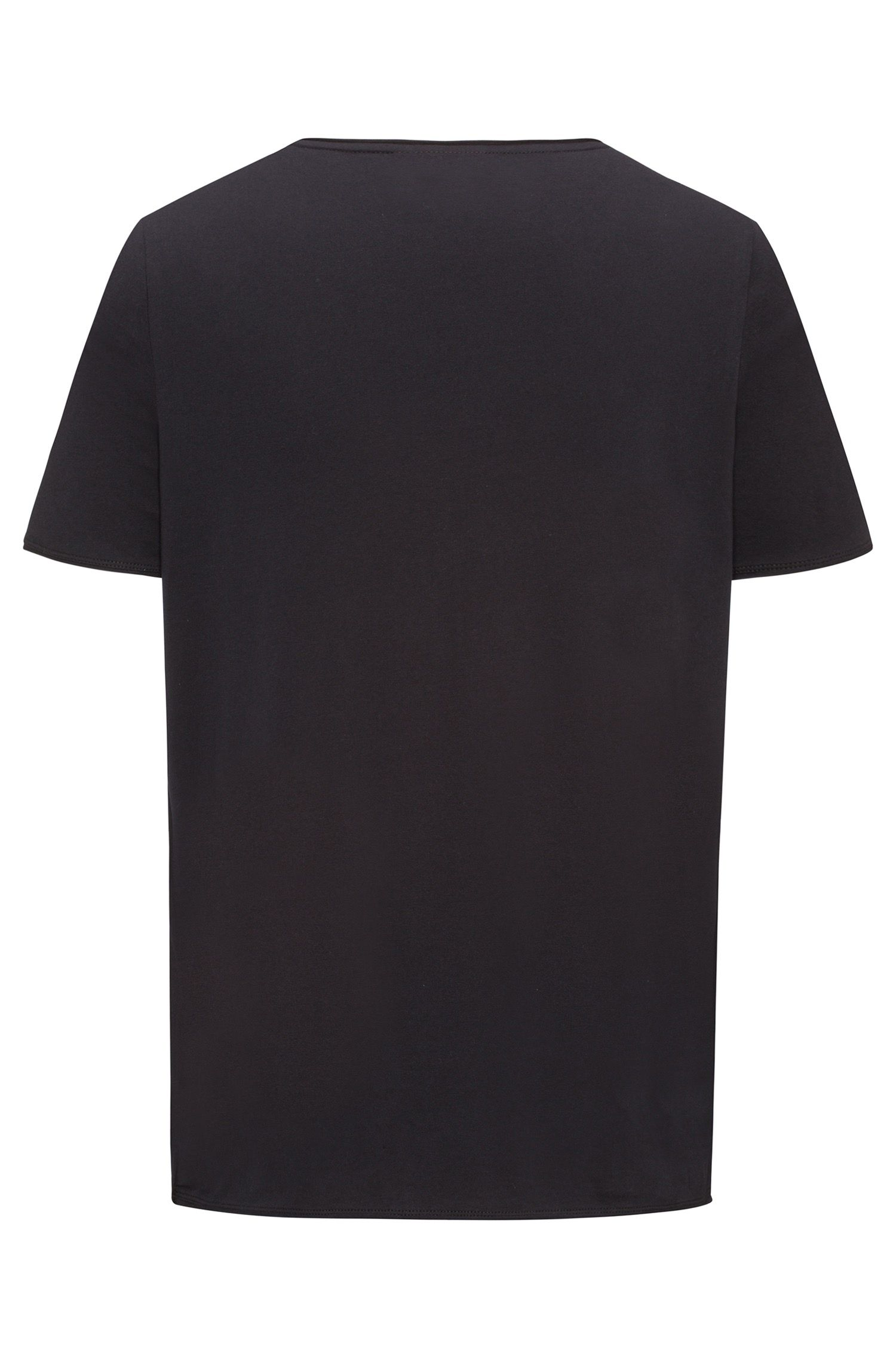 Camiseta regular fit en algodón Pima, Negro