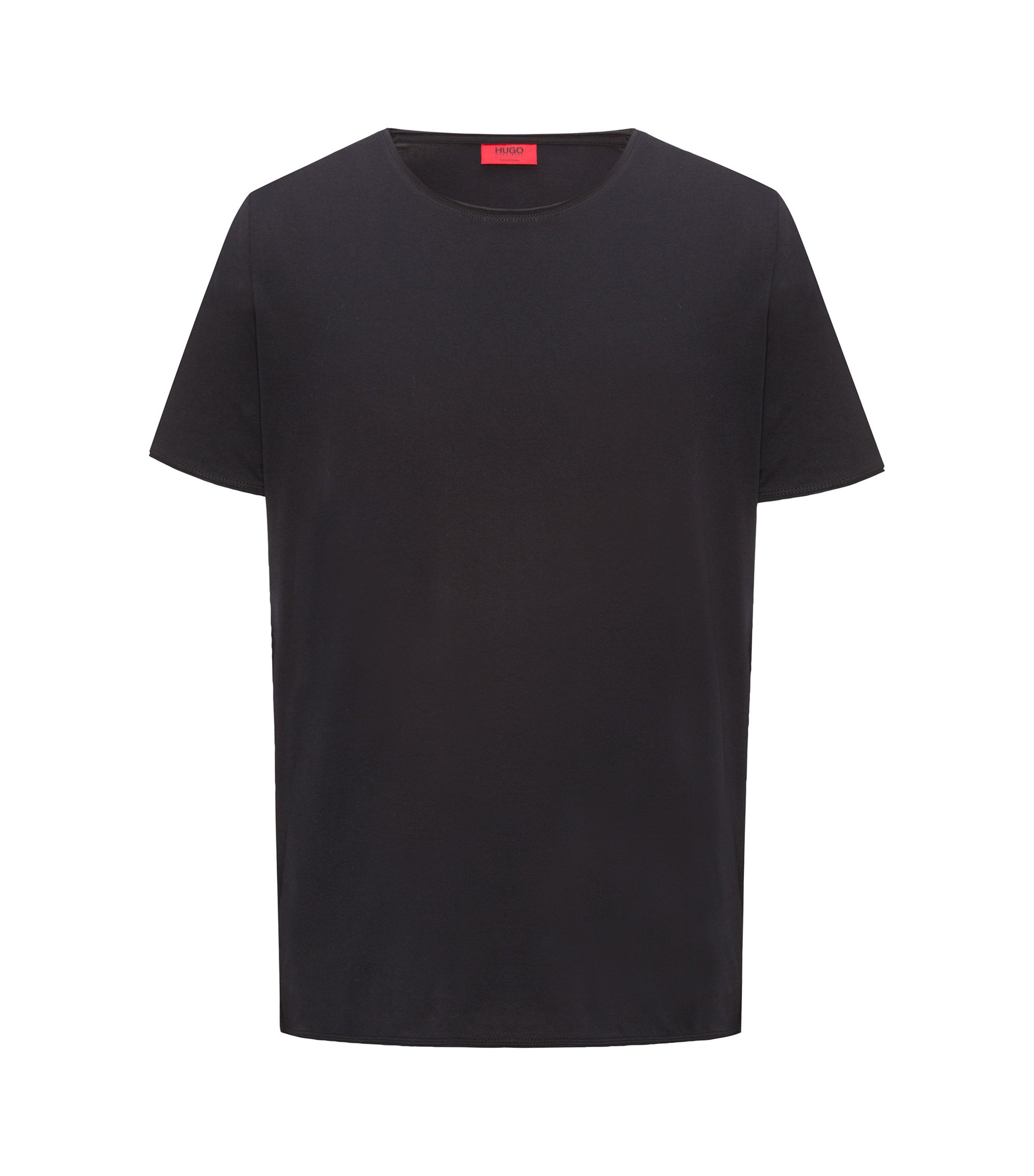 Regular-fit T-shirt in Pima cotton, Black