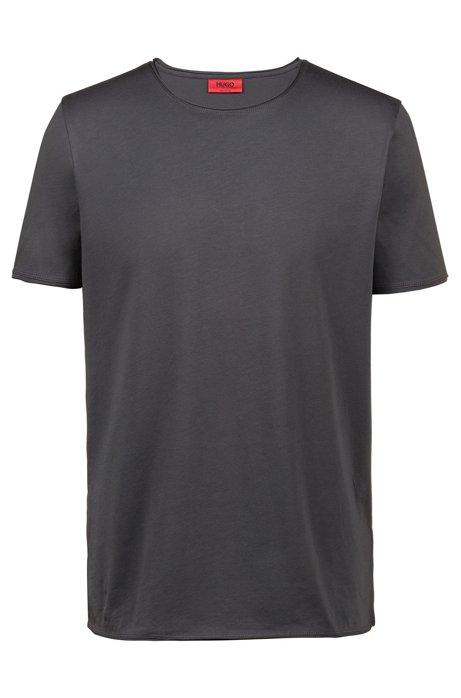 Regular-Fit T-Shirt aus Pima-Baumwolle, Dunkelgrau