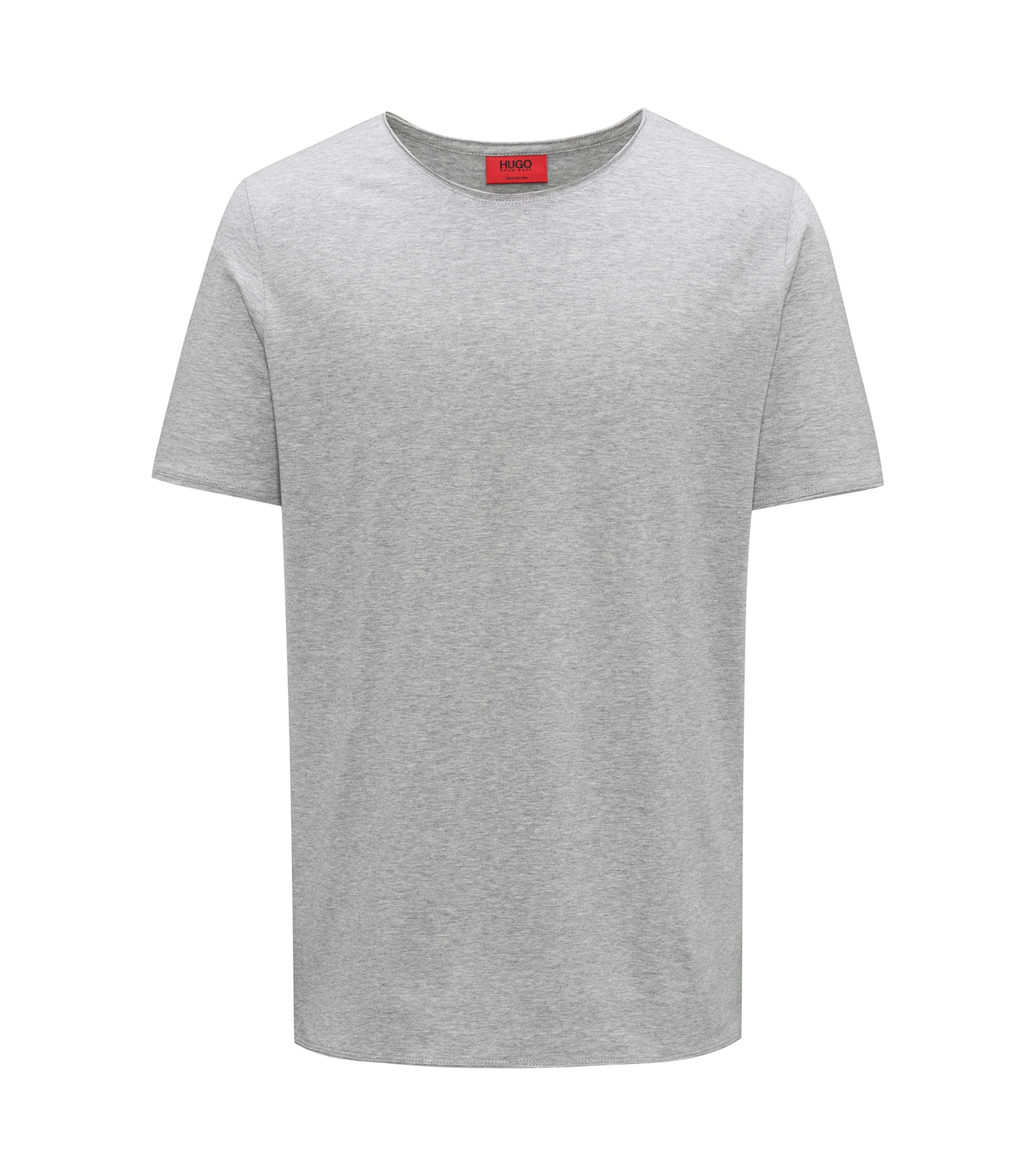 Regular-Fit T-Shirt aus Pima-Baumwolle, Dunkelgrau
