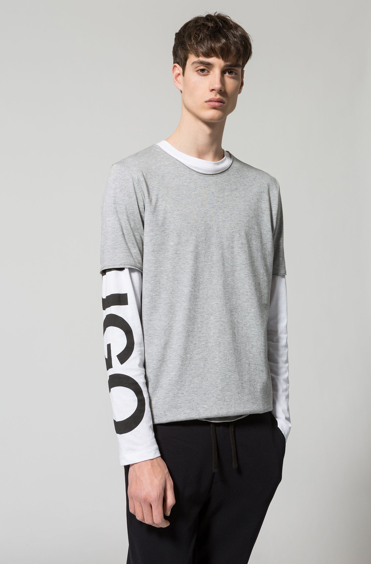 Regular-fit T-shirt in Pima cotton