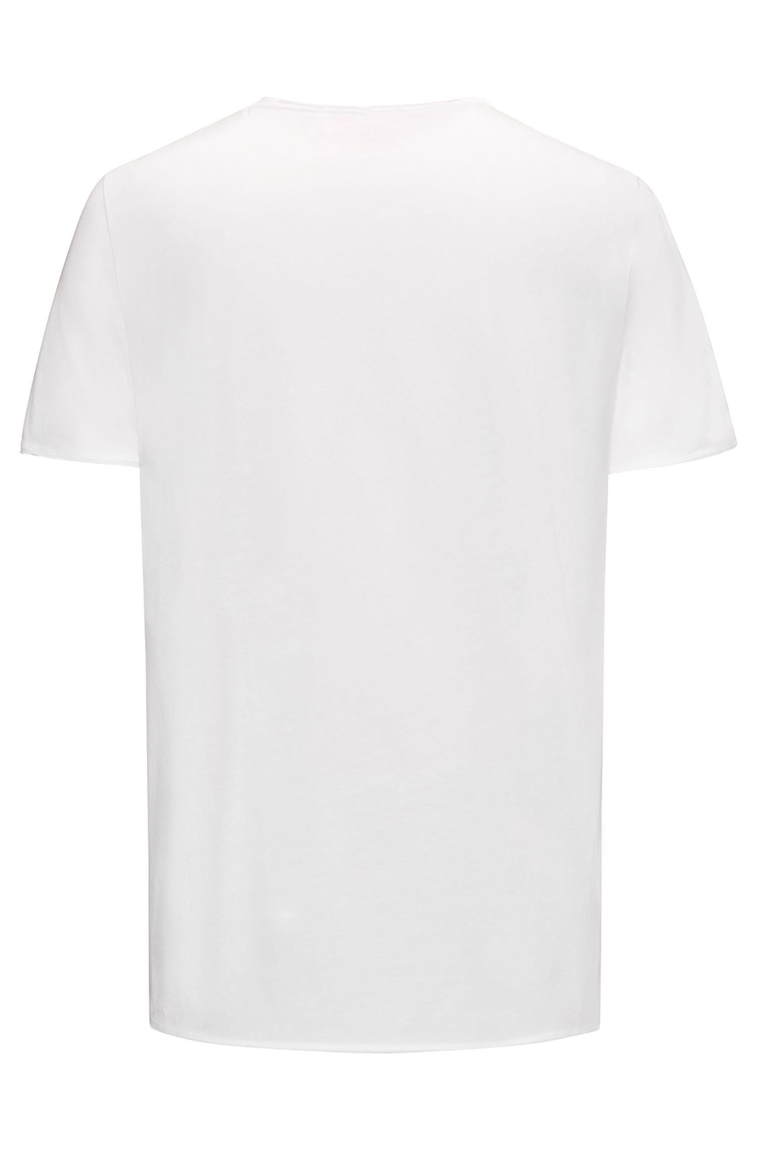 T-shirt Regular Fit en coton Pima, Blanc