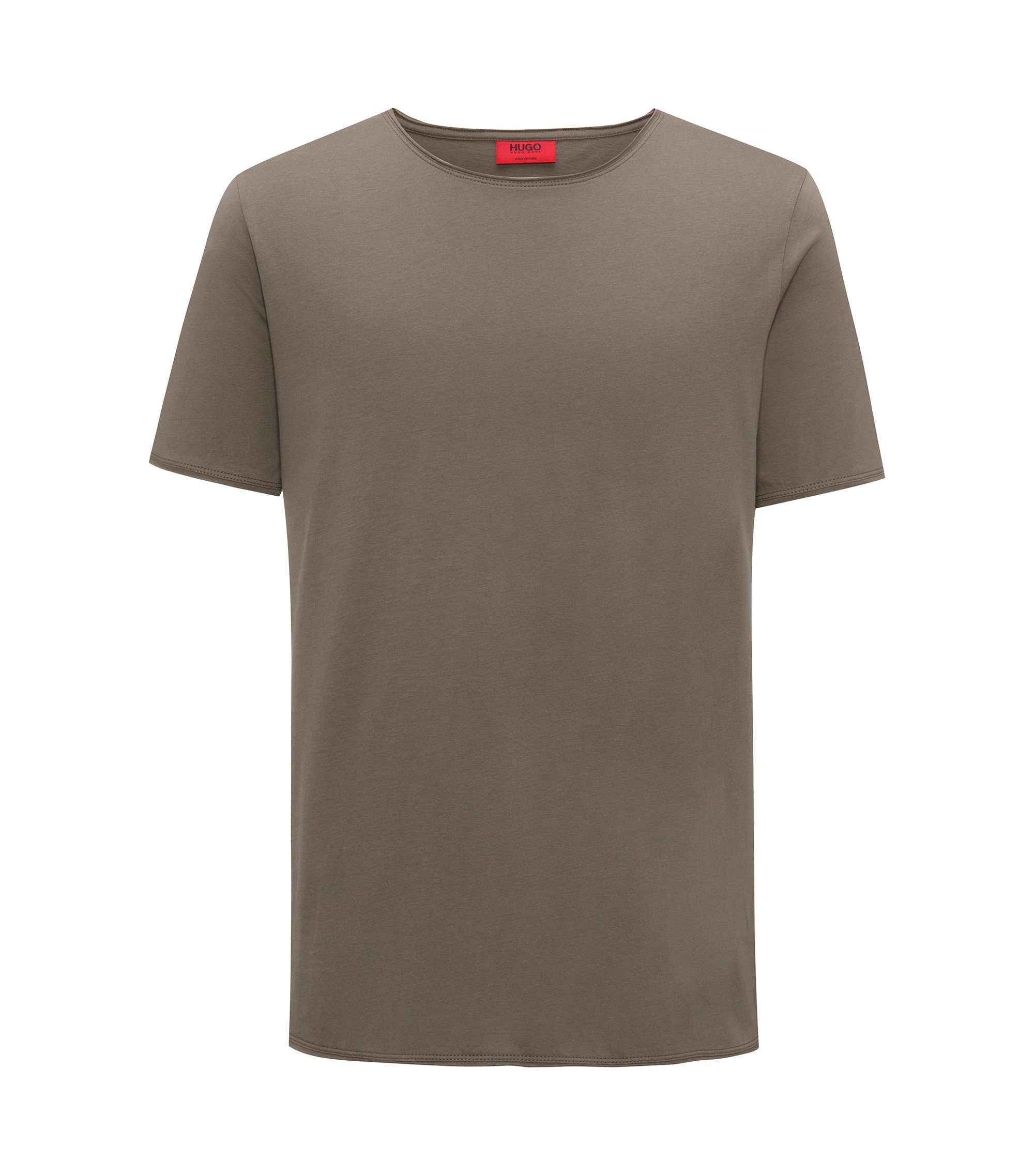 Regular-fit T-shirt in Pima cotton, Brown