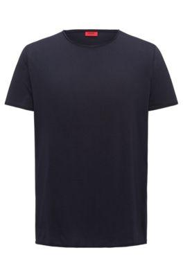 Camiseta regular fit en algodón Pima, Azul oscuro