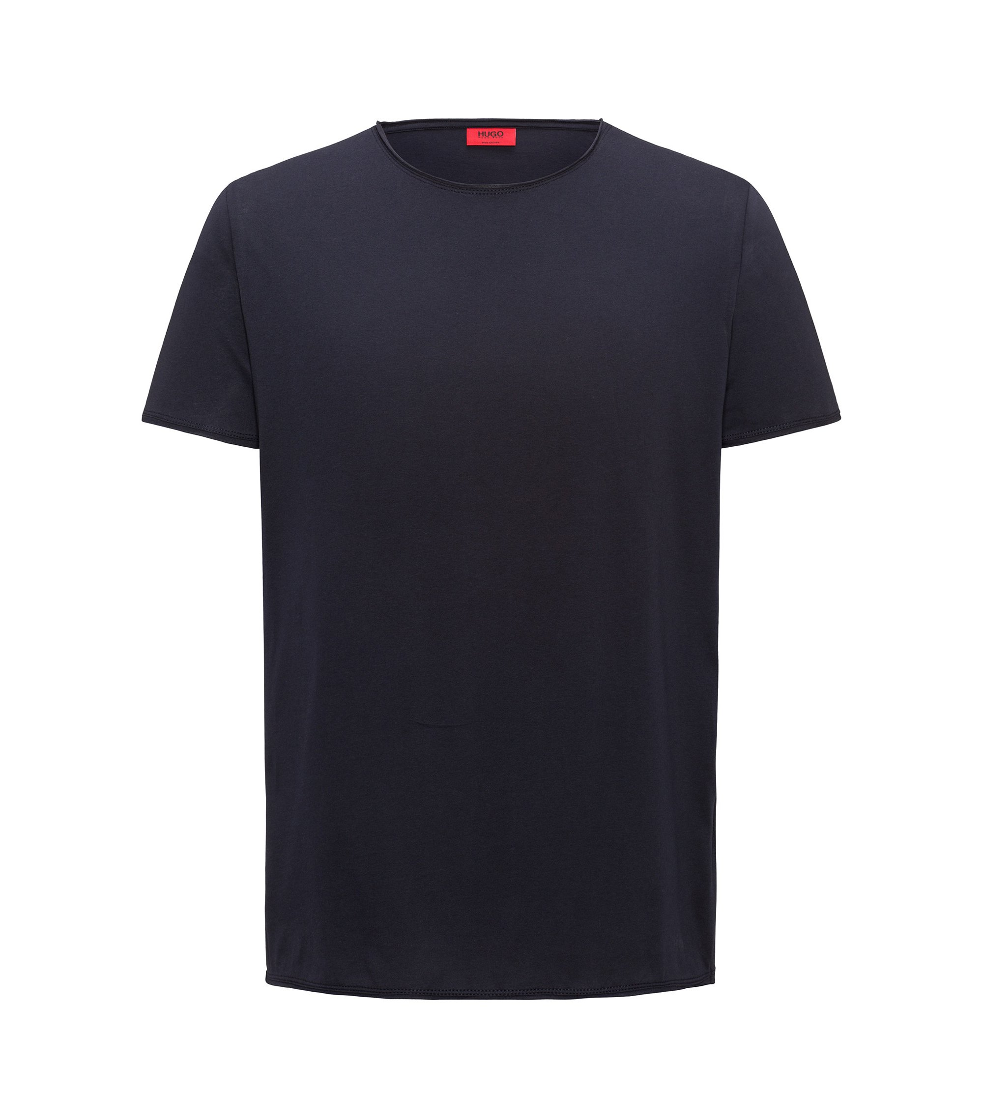 Regular-fit T-shirt in Pima cotton, Dark Blue