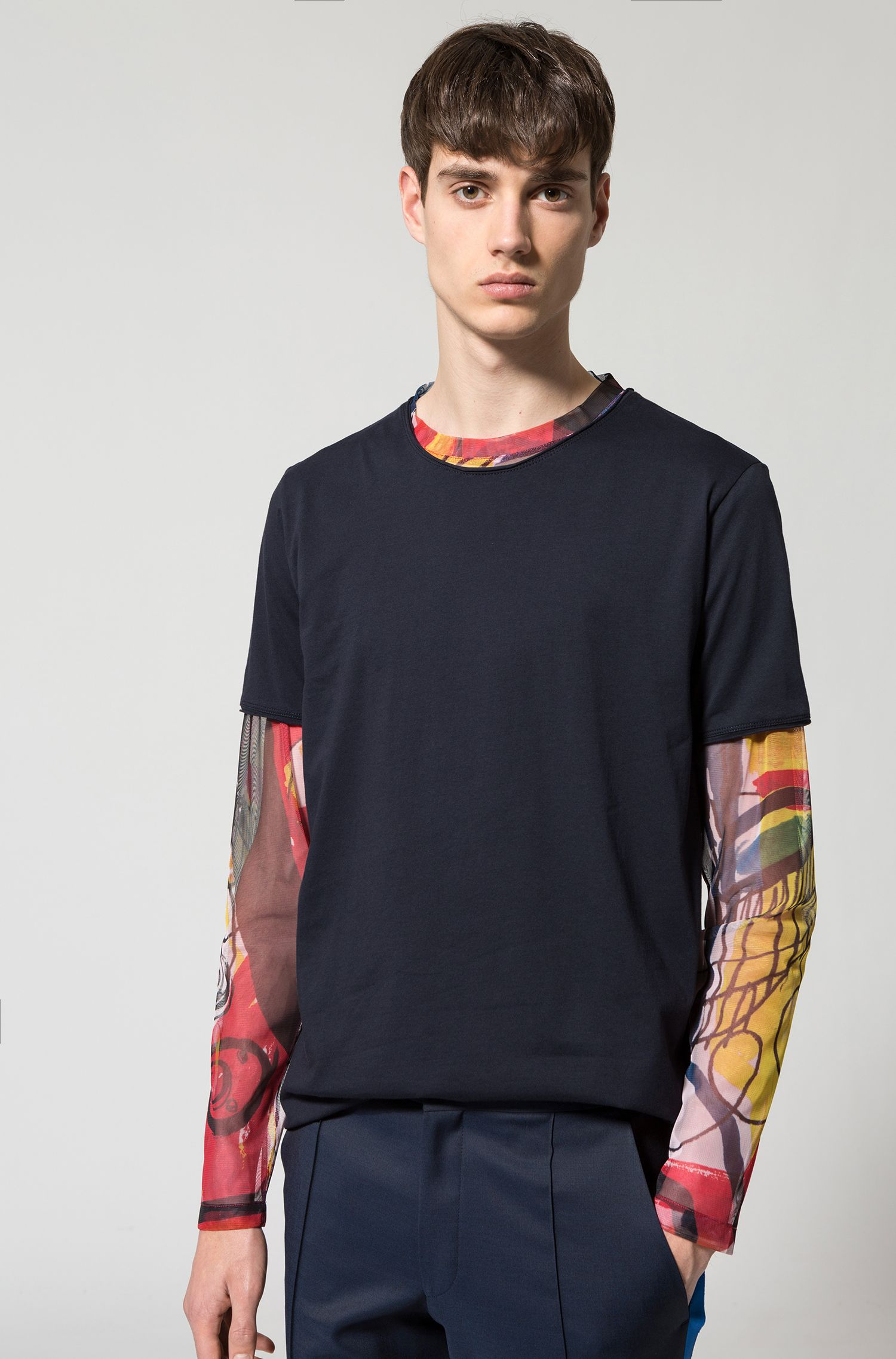 T-shirt regular fit in cotone Pima