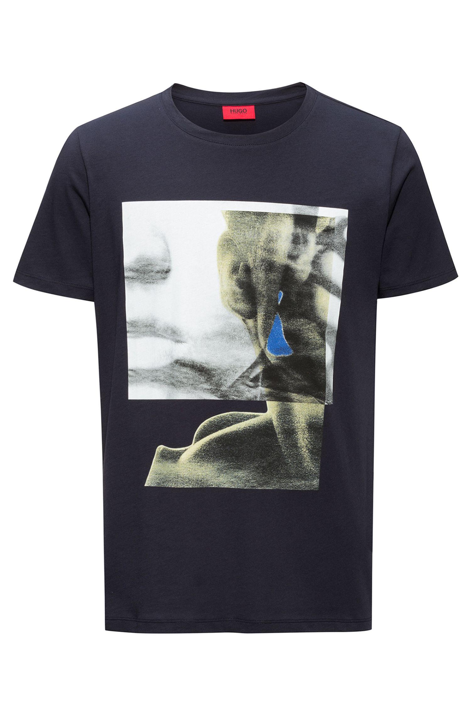 T-shirt met print van zuivere katoen