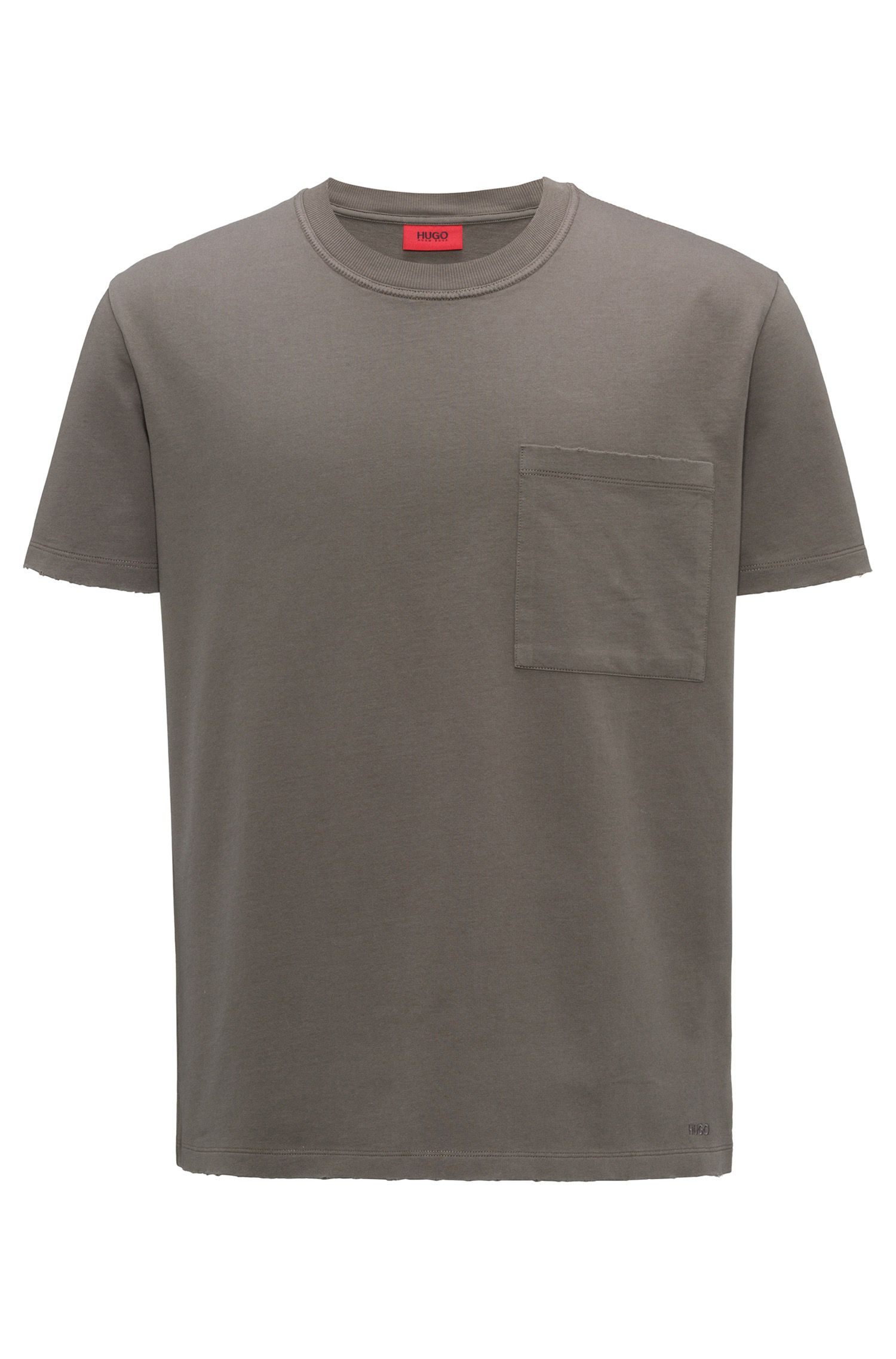 T-shirt oversize a girocollo in french terry