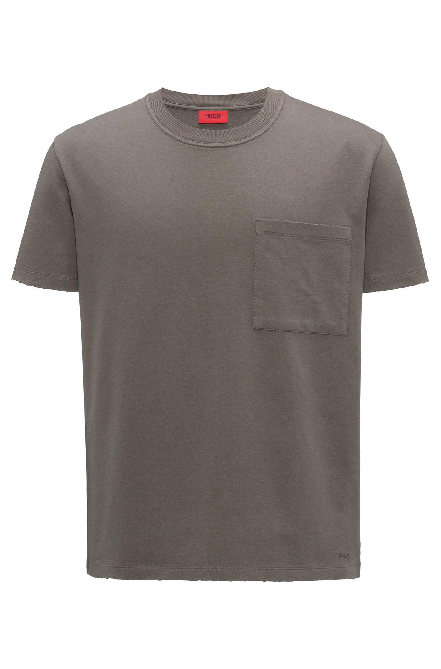 Oversized T-Shirt aus French Terry mit Rundhalsausschnitt