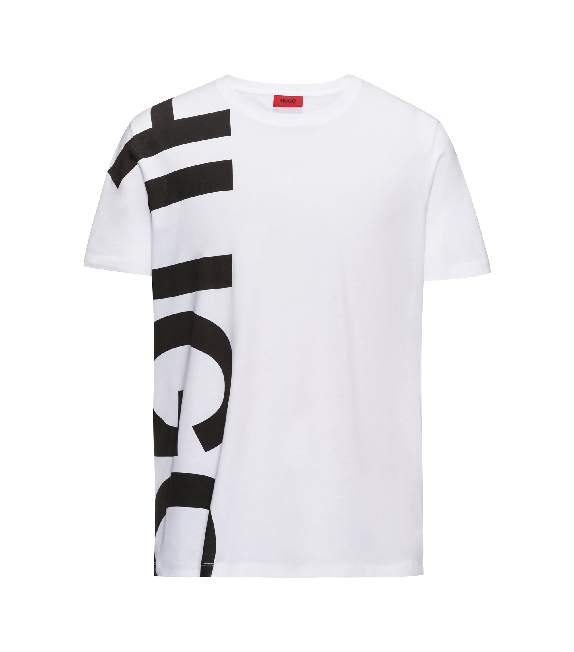 Oversized-logo T-shirt in cotton jersey, White