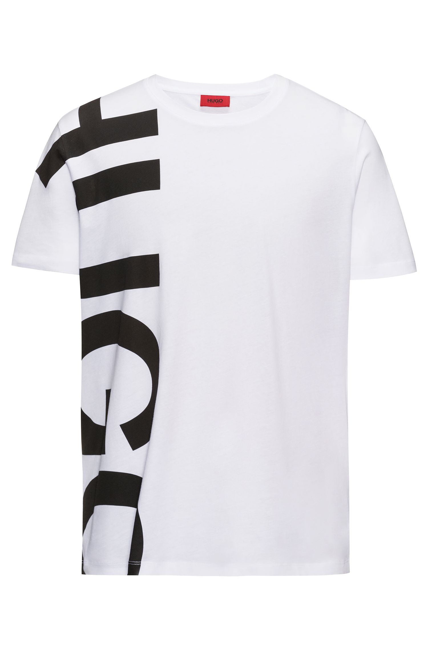Oversized-logo T-shirt in cotton jersey