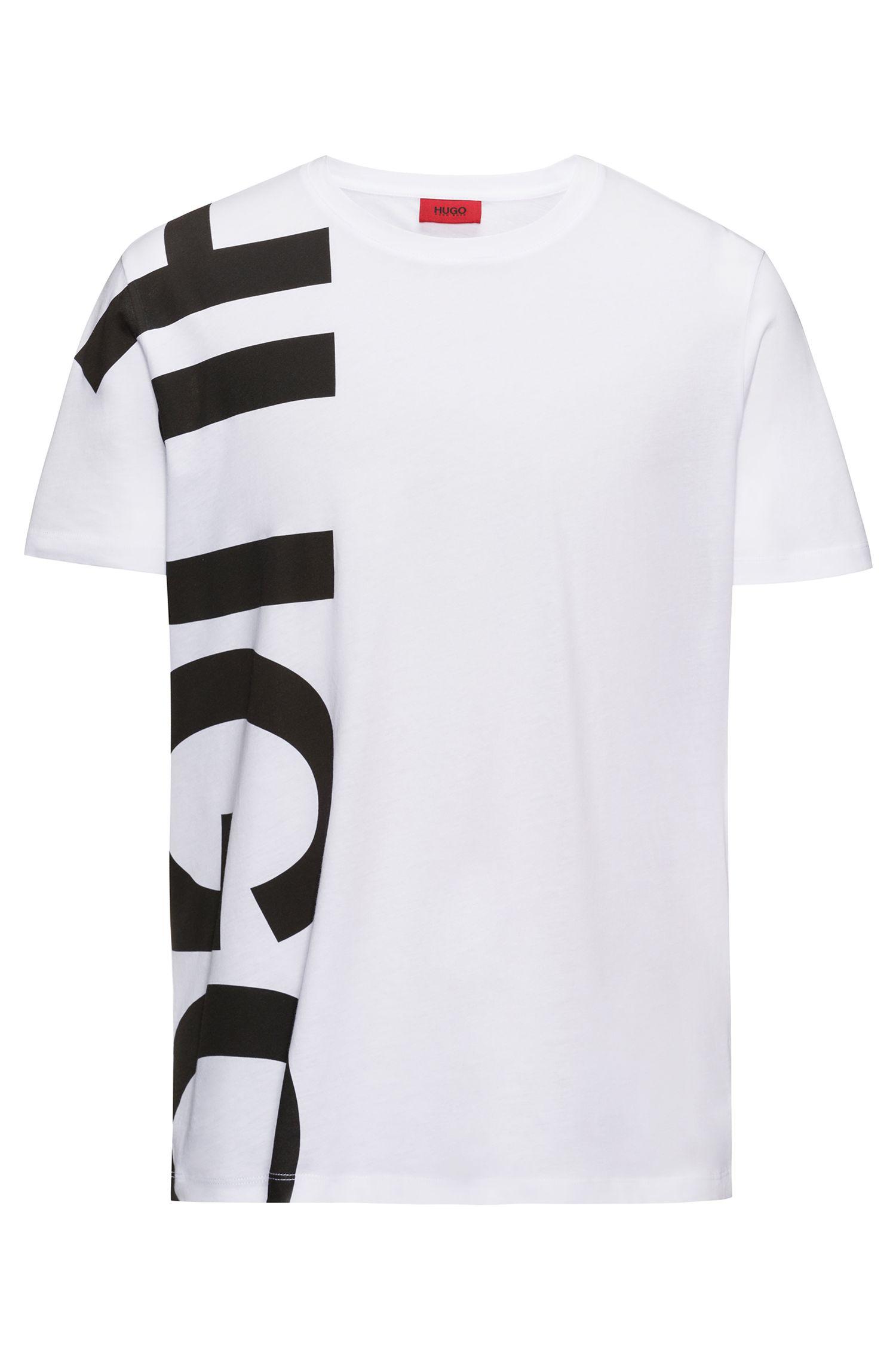 T-shirt en jersey de coton avec logo oversize