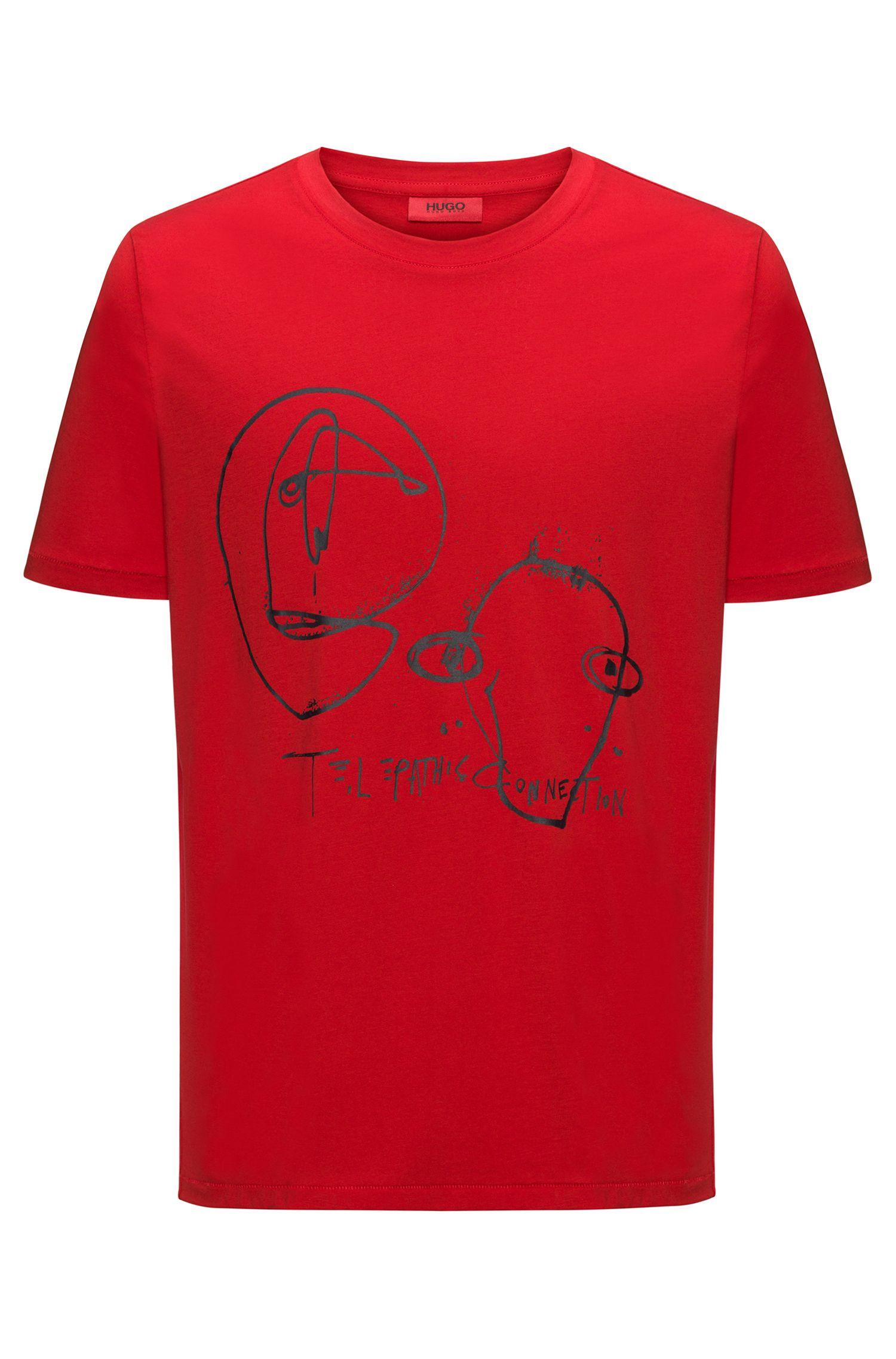 Cotton T-shirt with rubberised epigram print